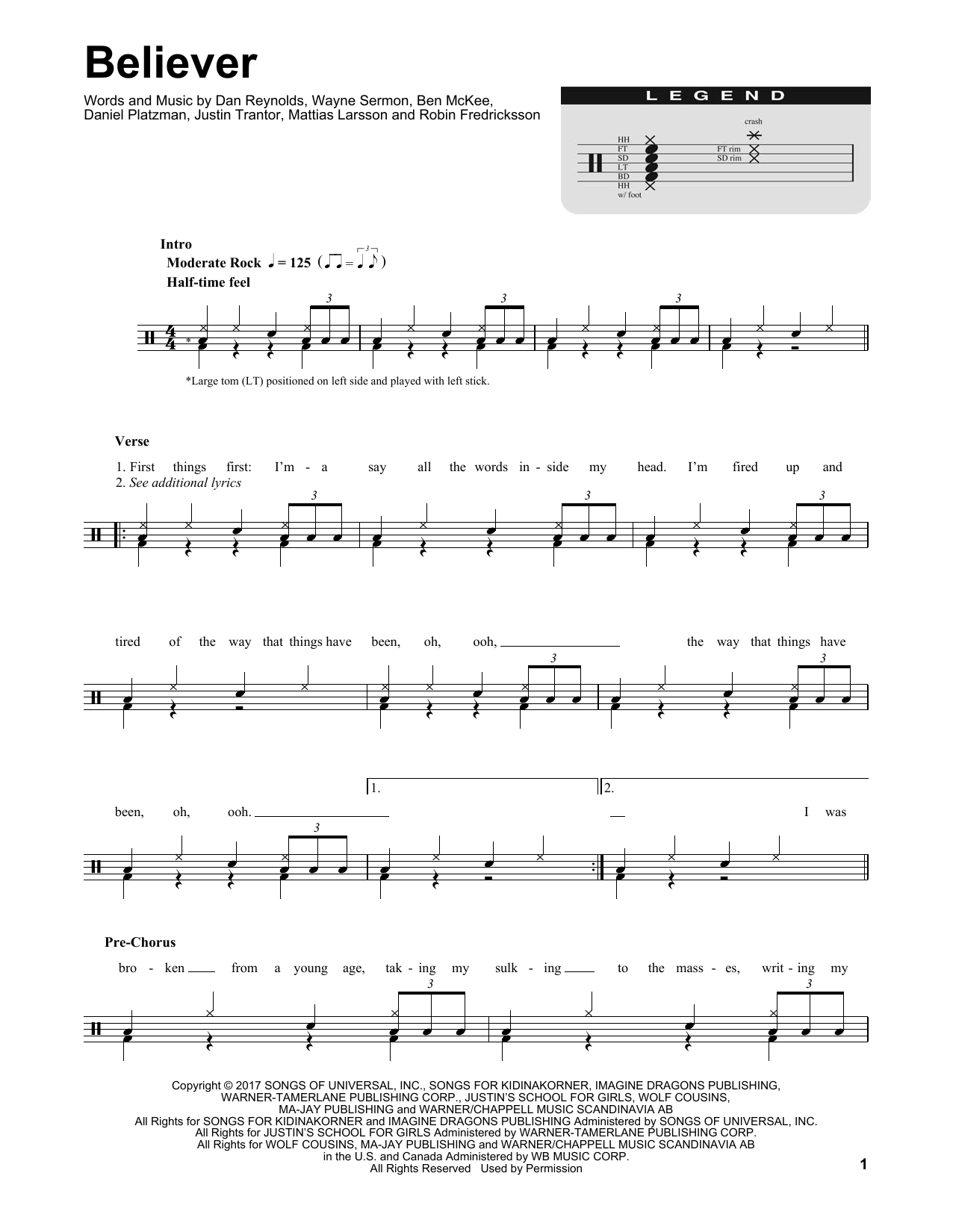Believer Sheet Music