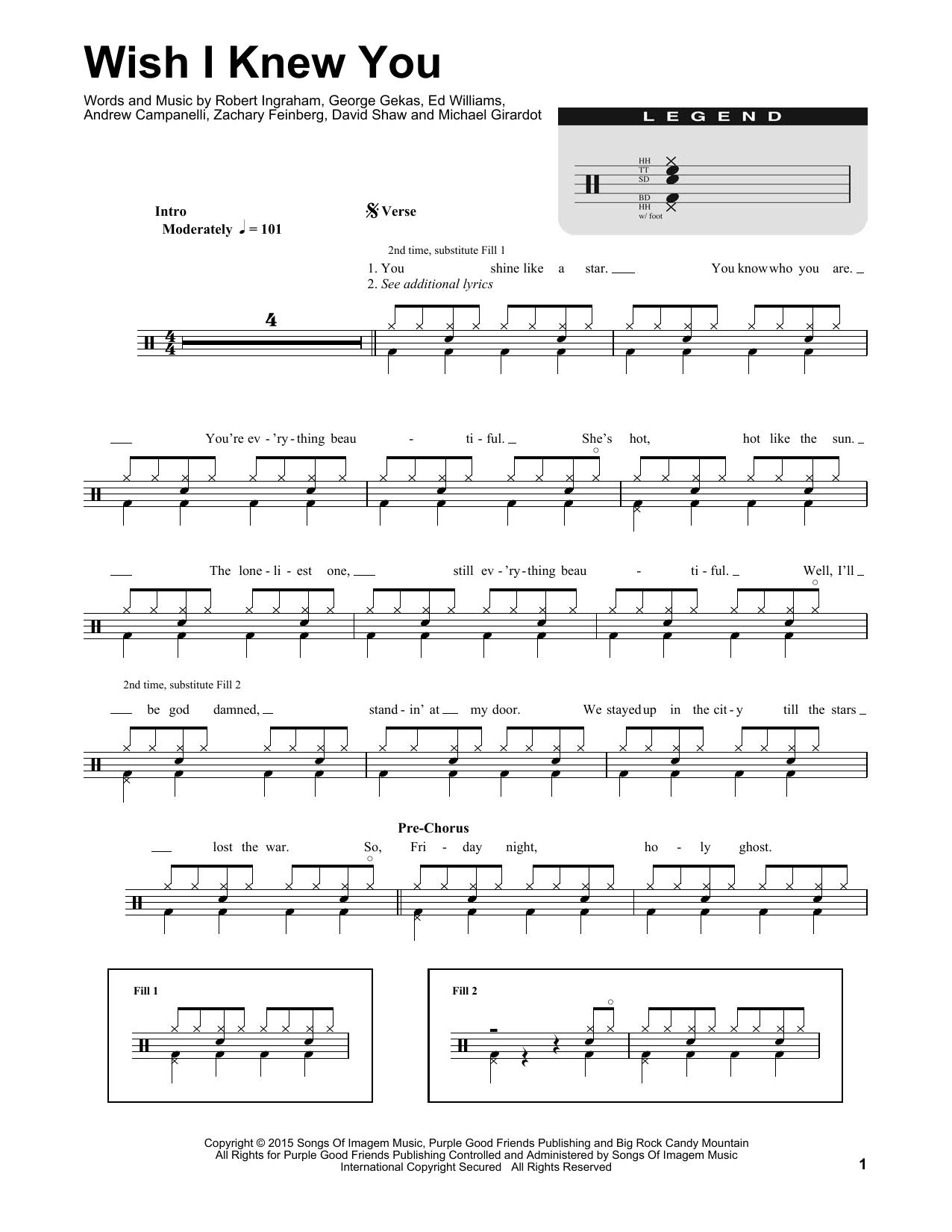 Wish I Knew You Sheet Music