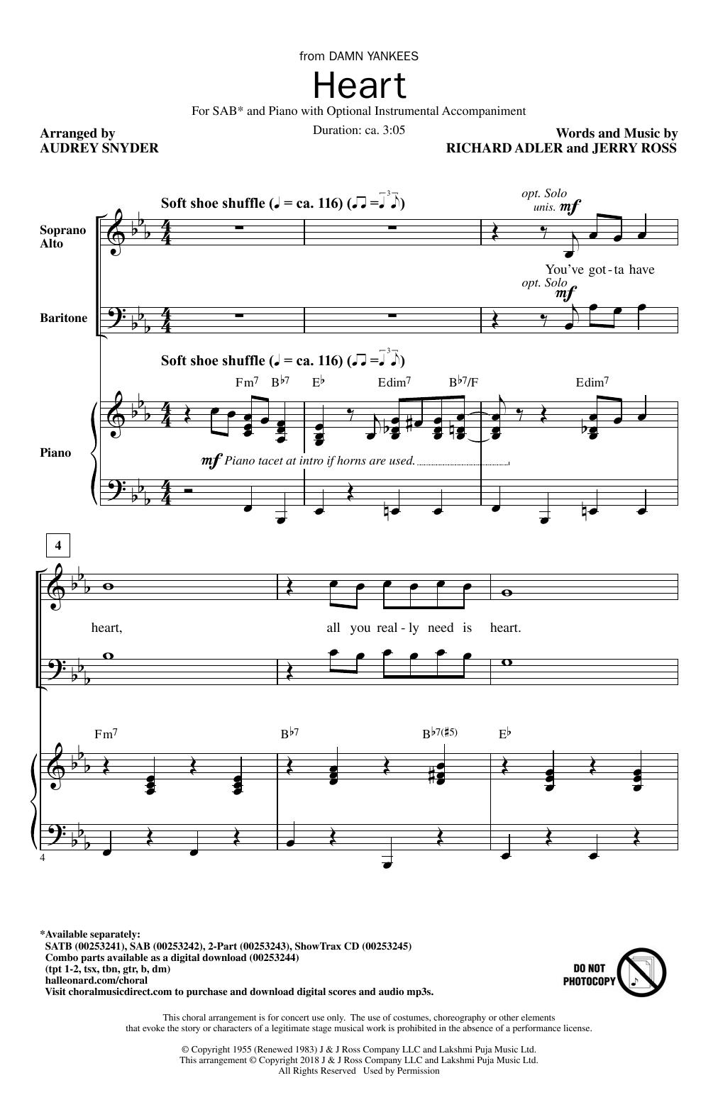 Heart Sheet Music