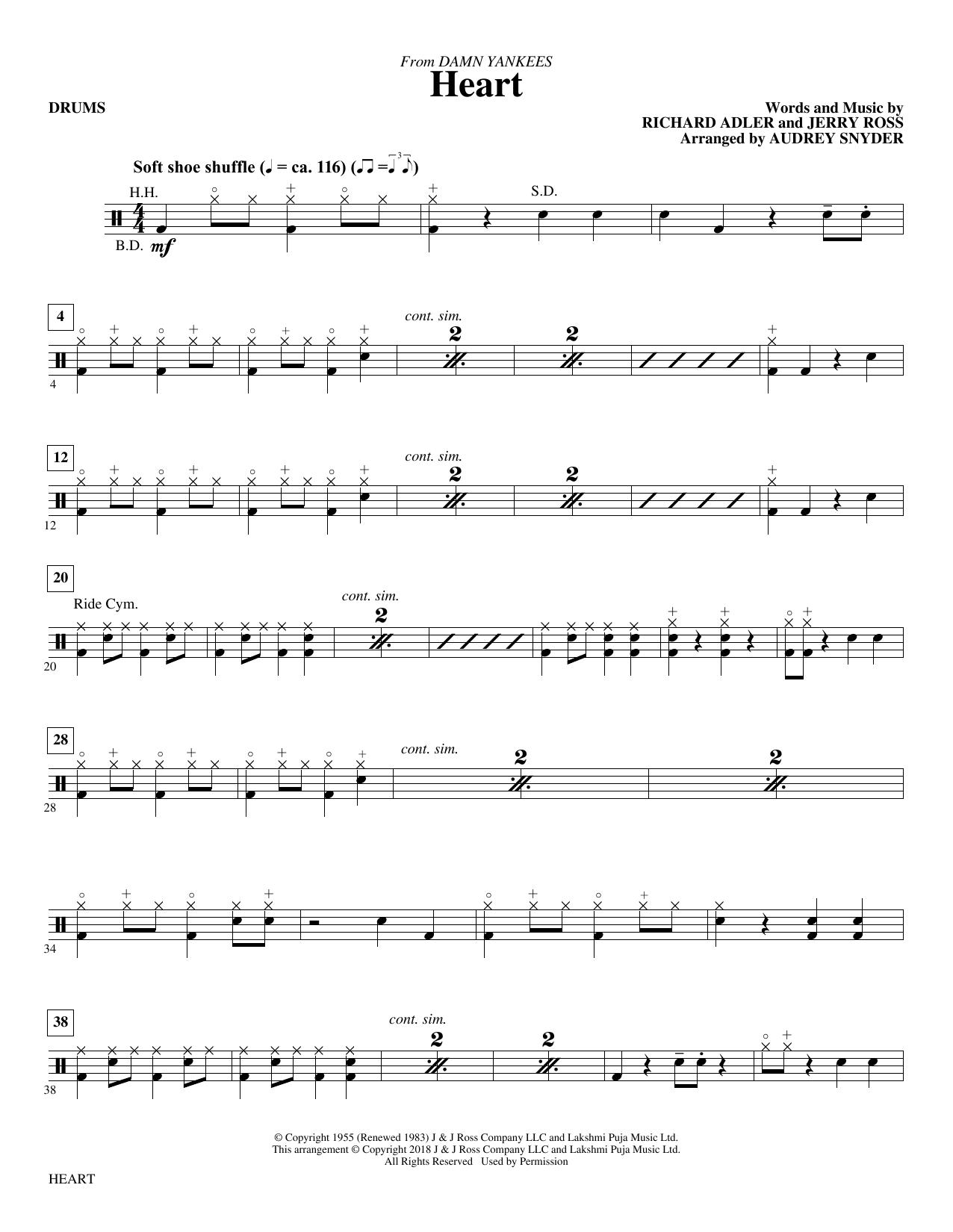 Heart - Drums (Choir Instrumental Pak)