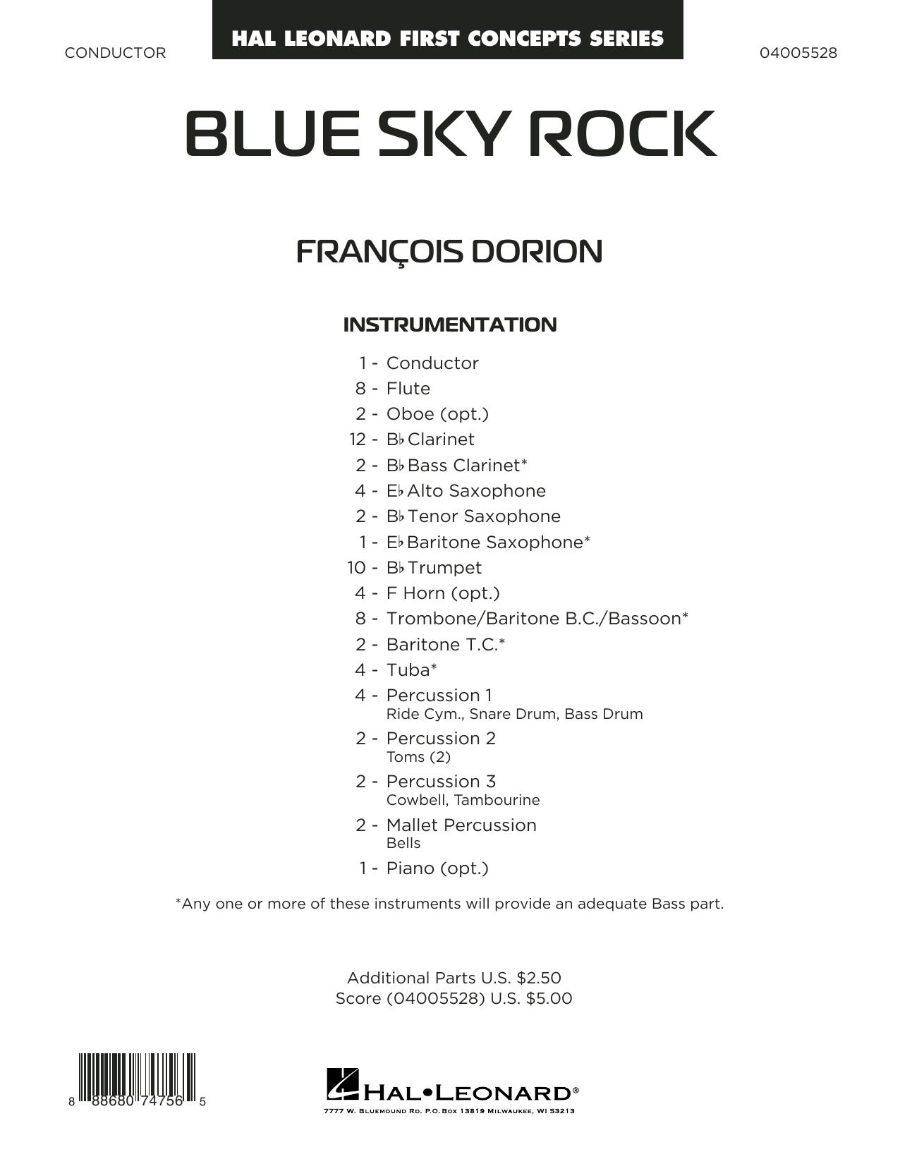 Blue Sky Rock - Conductor Score (Full Score) (Concert Band)