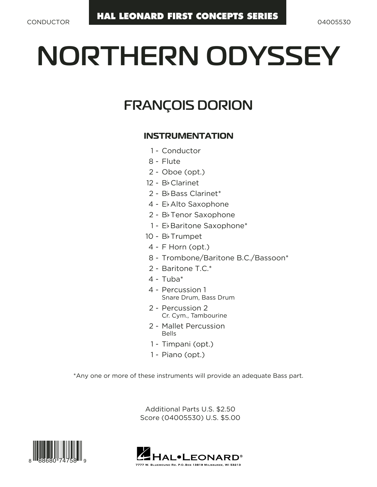 Northern Odyssey - Conductor Score (Full Score) (Concert Band)