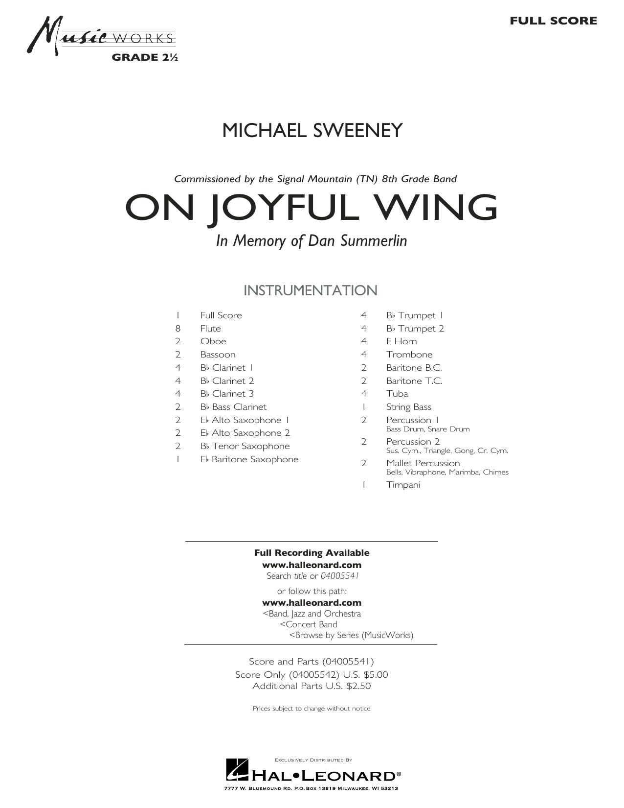 On Joyful Wing - Full Score (Concert Band)
