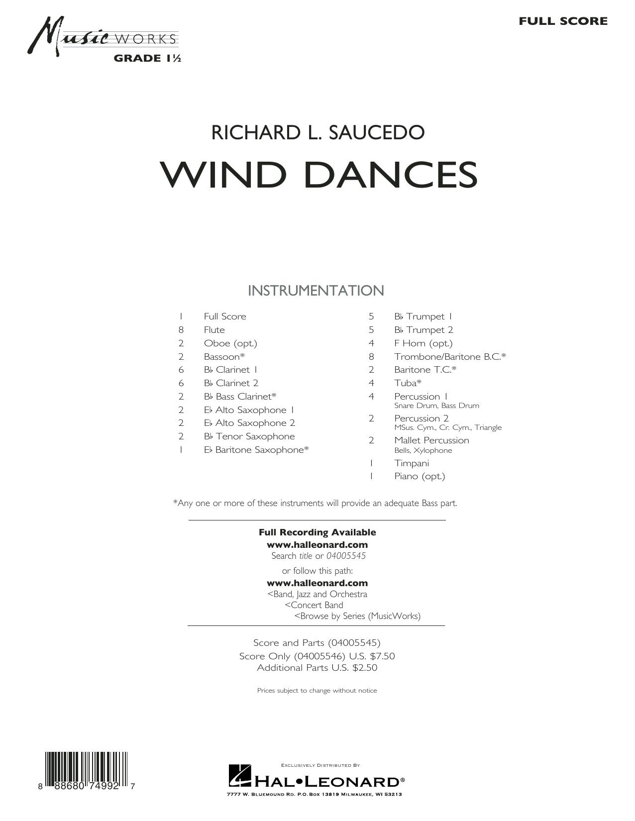 Wind Dances - Conductor Score (Full Score) (Concert Band)