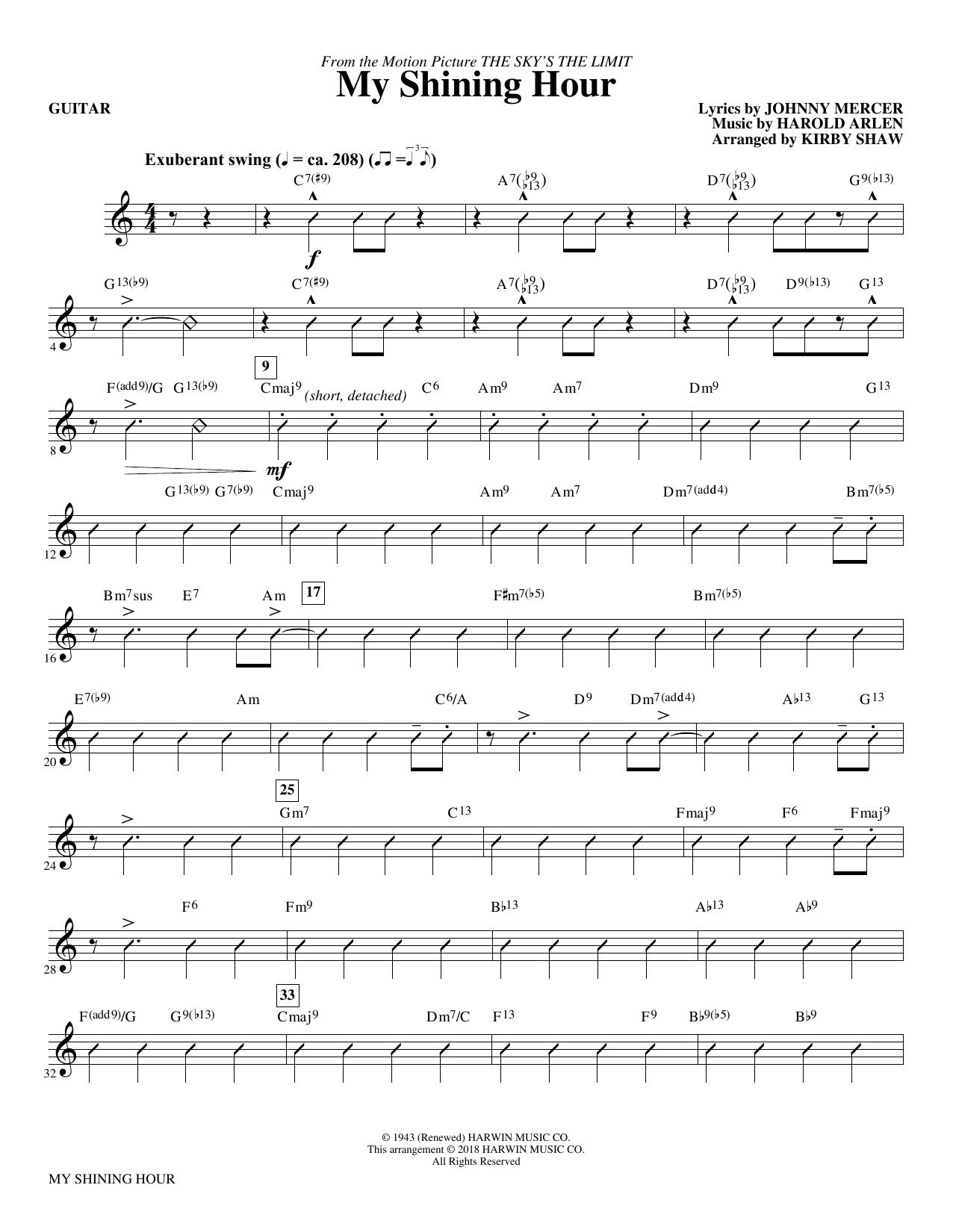 My Shining Hour - Guitar (Choir Instrumental Pak)