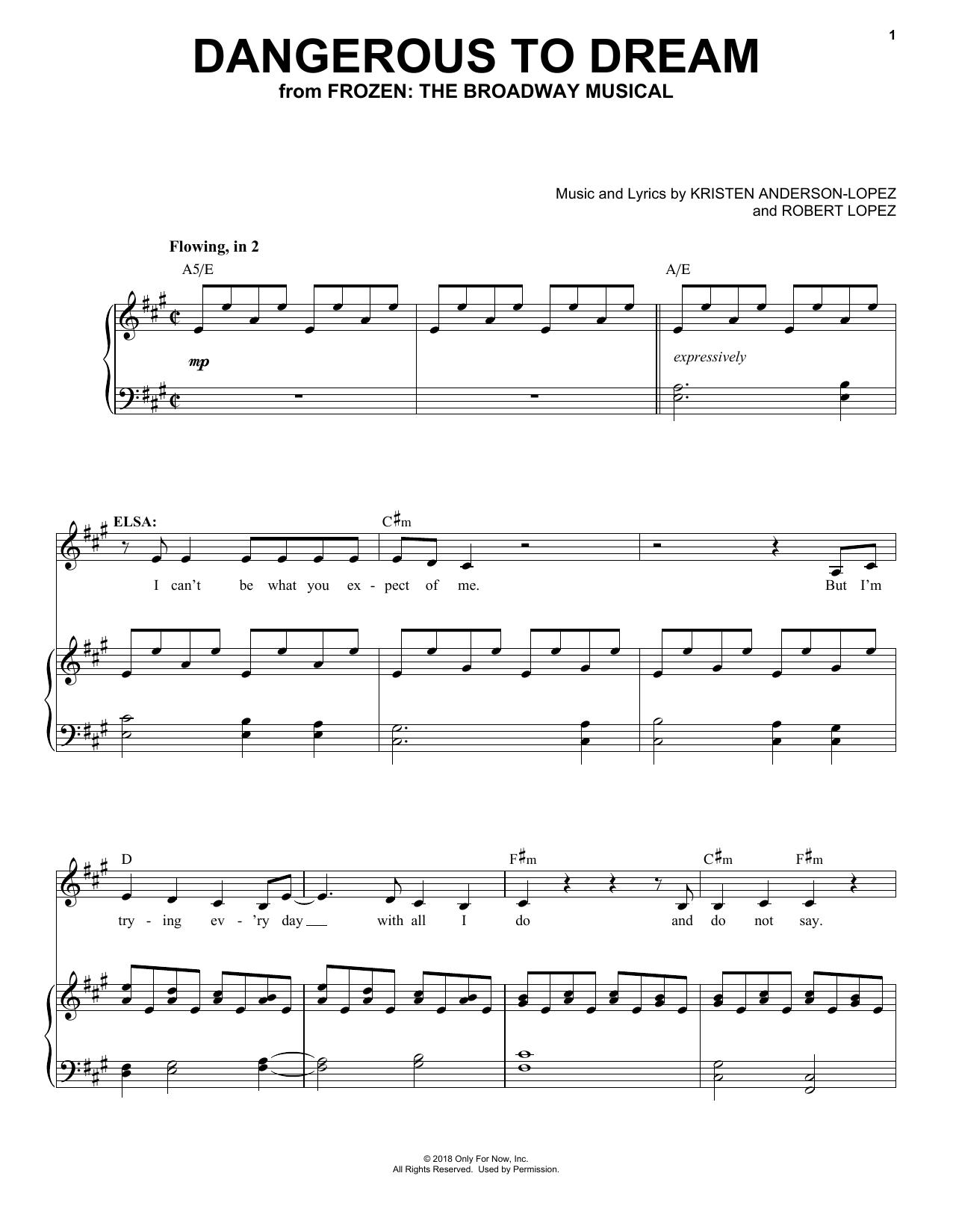 Dangerous To Dream (Piano & Vocal)