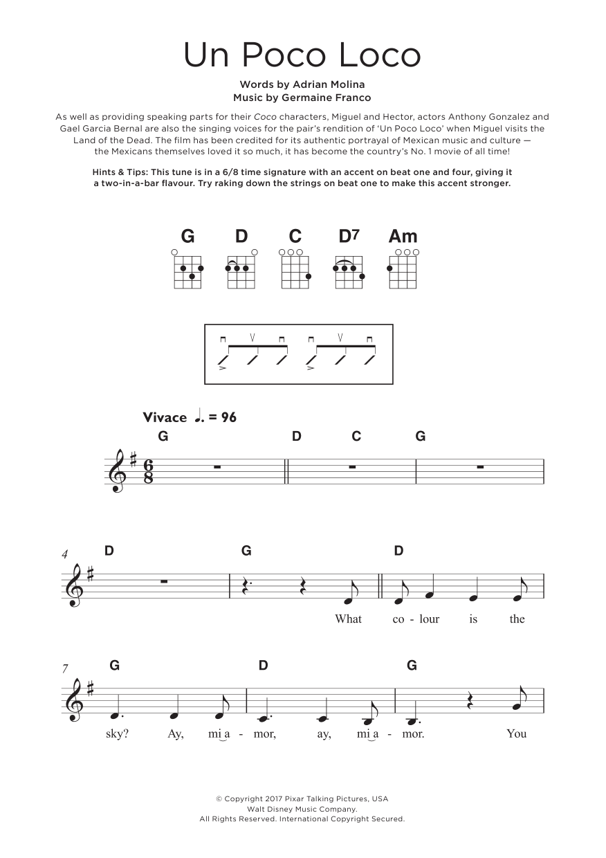 Un Poco Loco (from Coco) Sheet Music