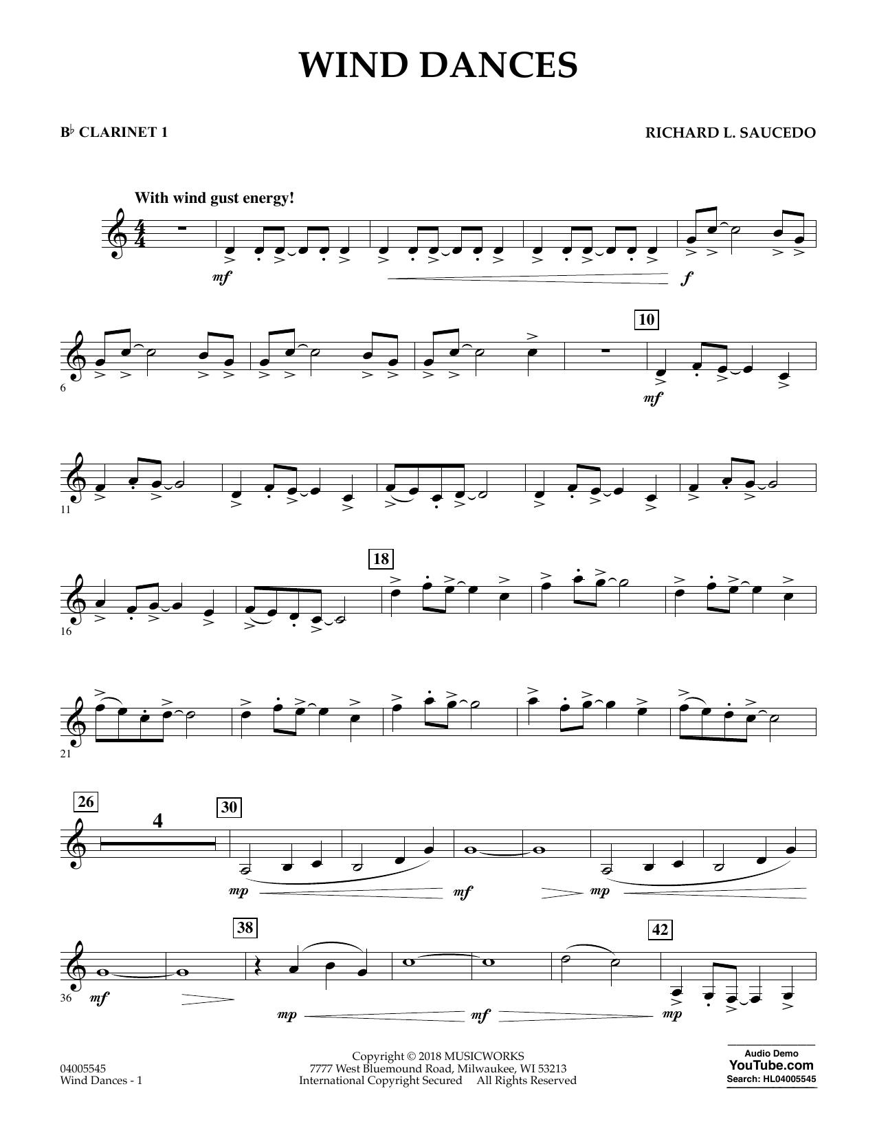 Wind Dances - Bb Clarinet 1 (Concert Band)