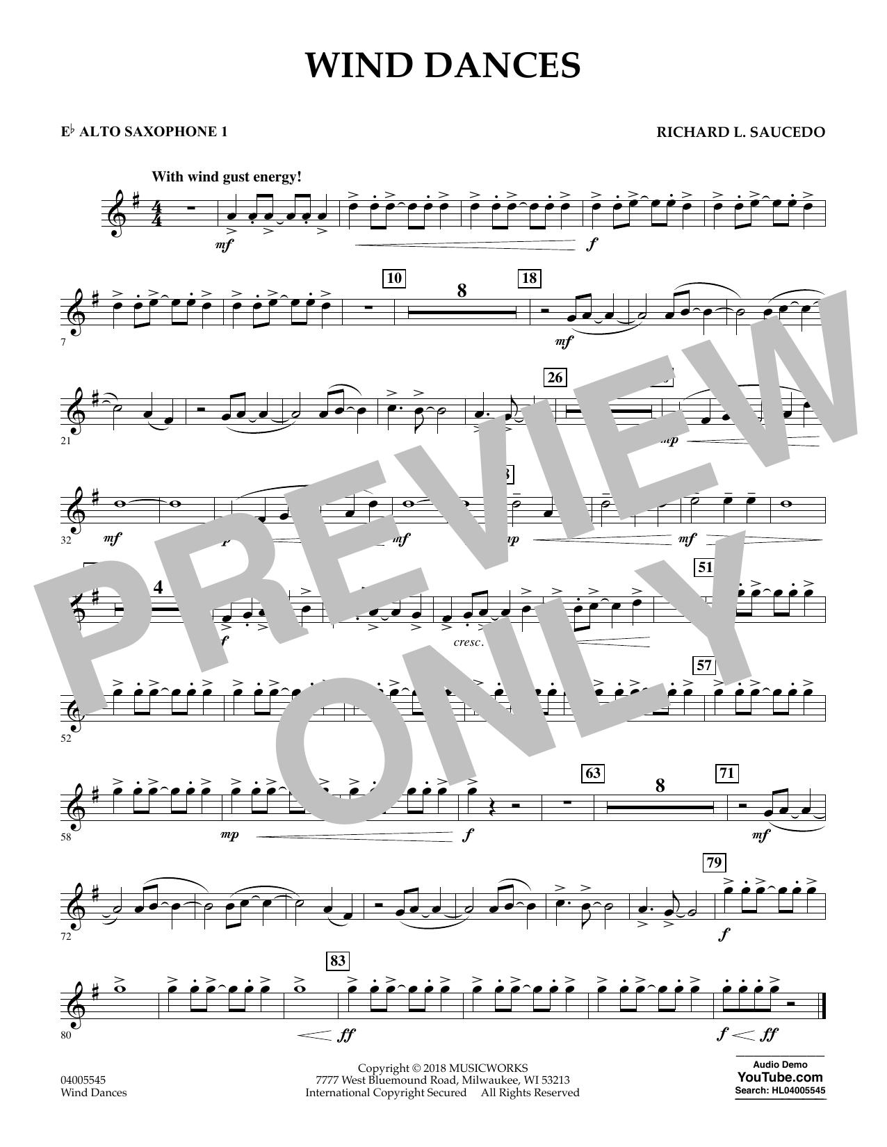 Wind Dances - Eb Alto Saxophone 1 (Concert Band)