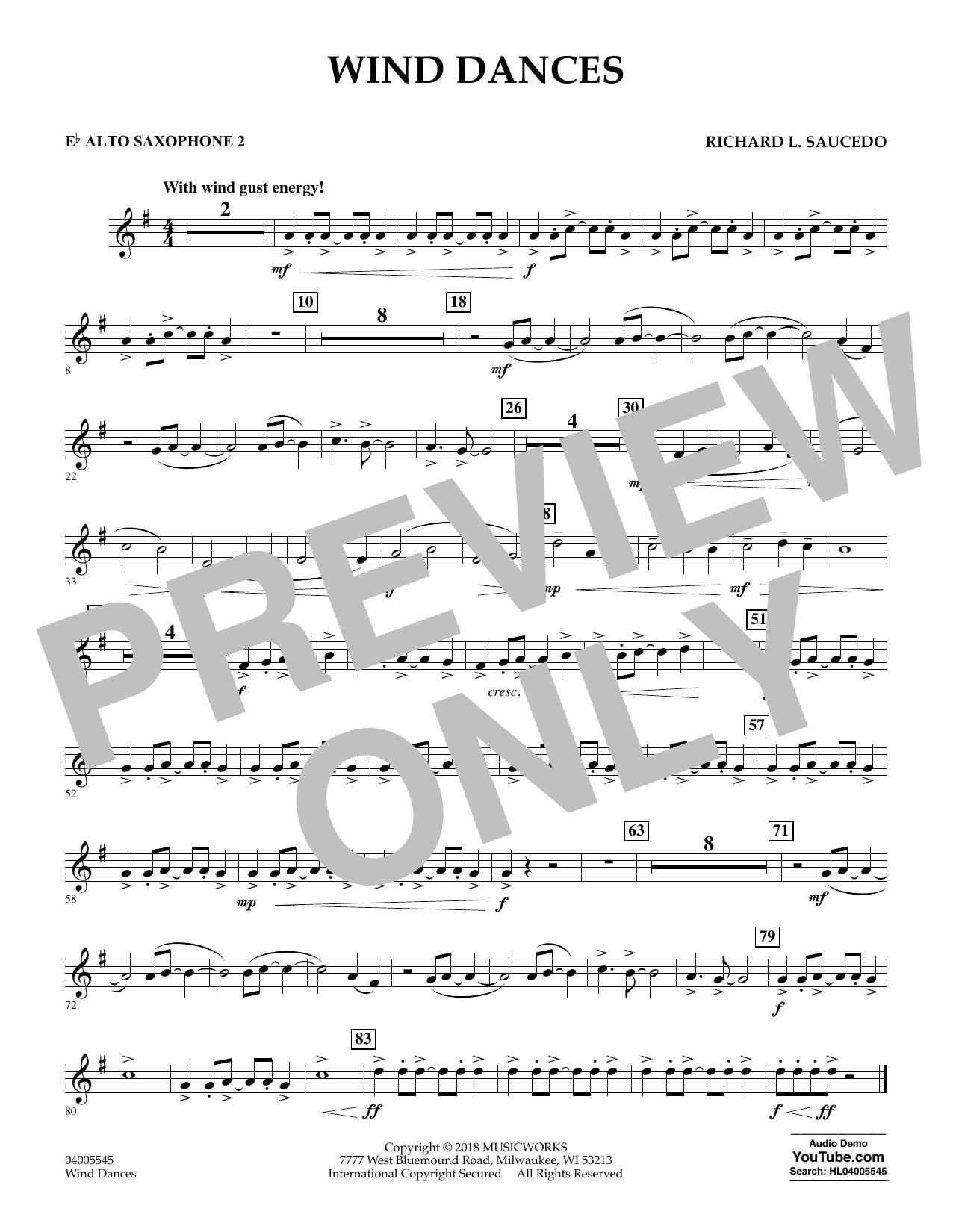 Wind Dances - Eb Alto Saxophone 2 (Concert Band)