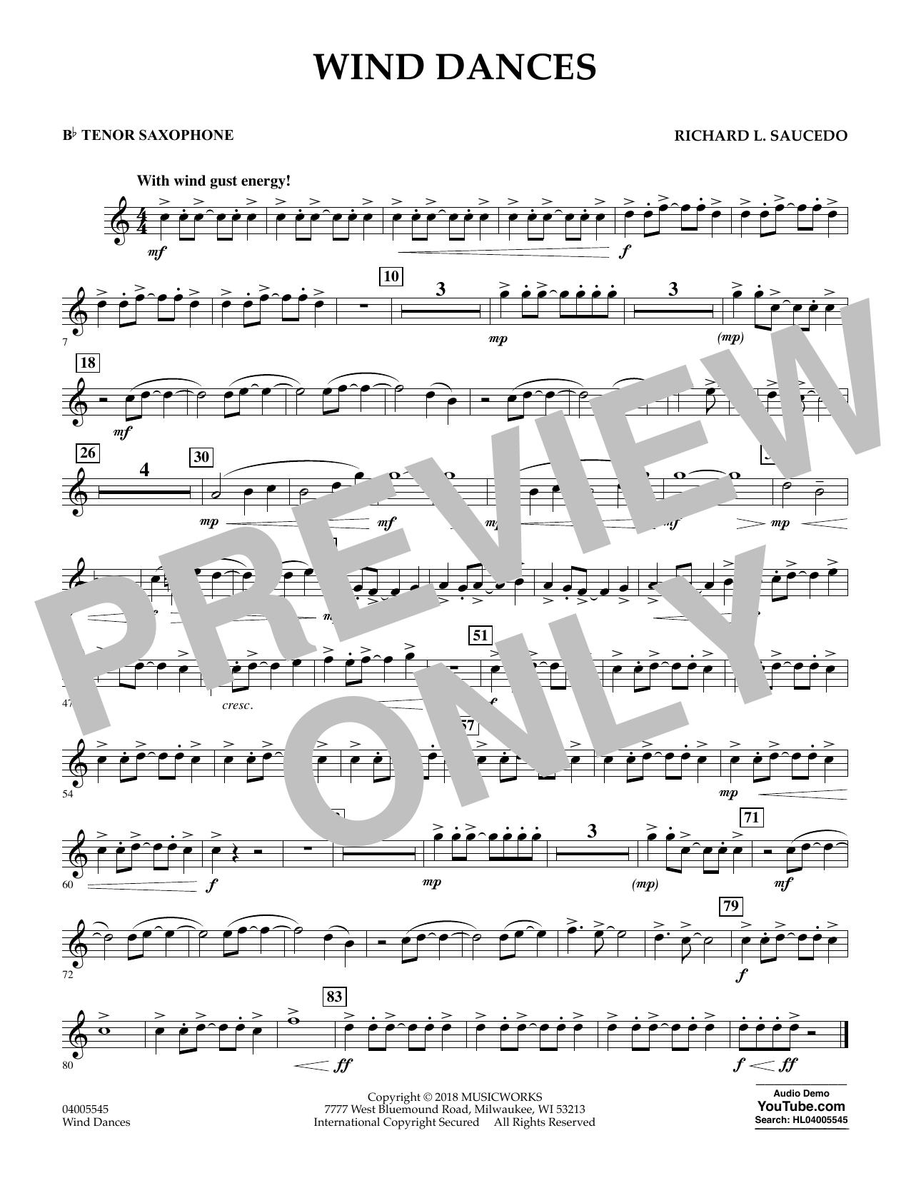 Wind Dances - Bb Tenor Saxophone (Concert Band)
