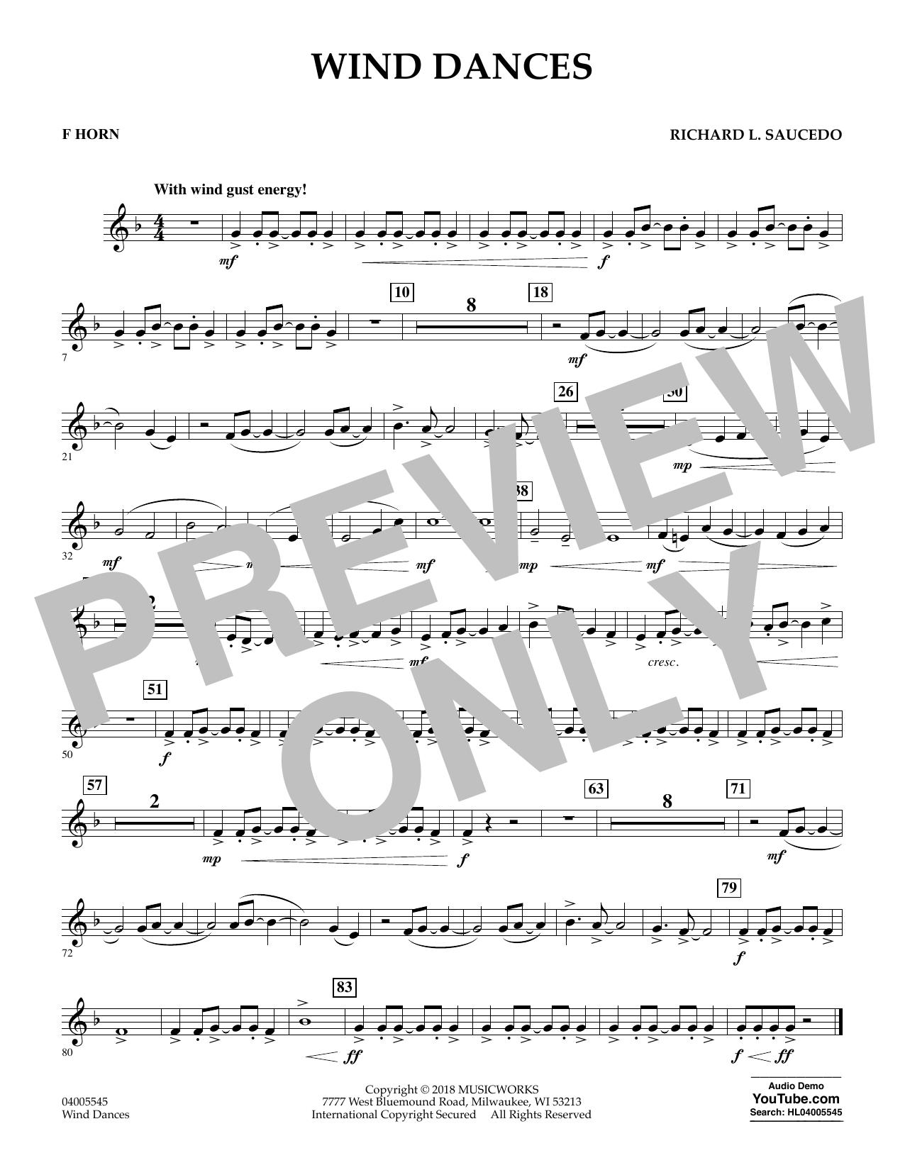 Wind Dances - F Horn (Concert Band)