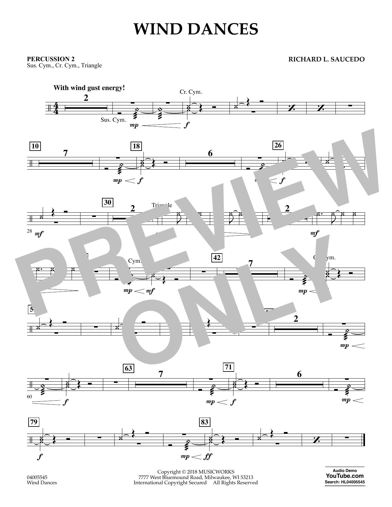 Wind Dances - Percussion 2 (Concert Band)