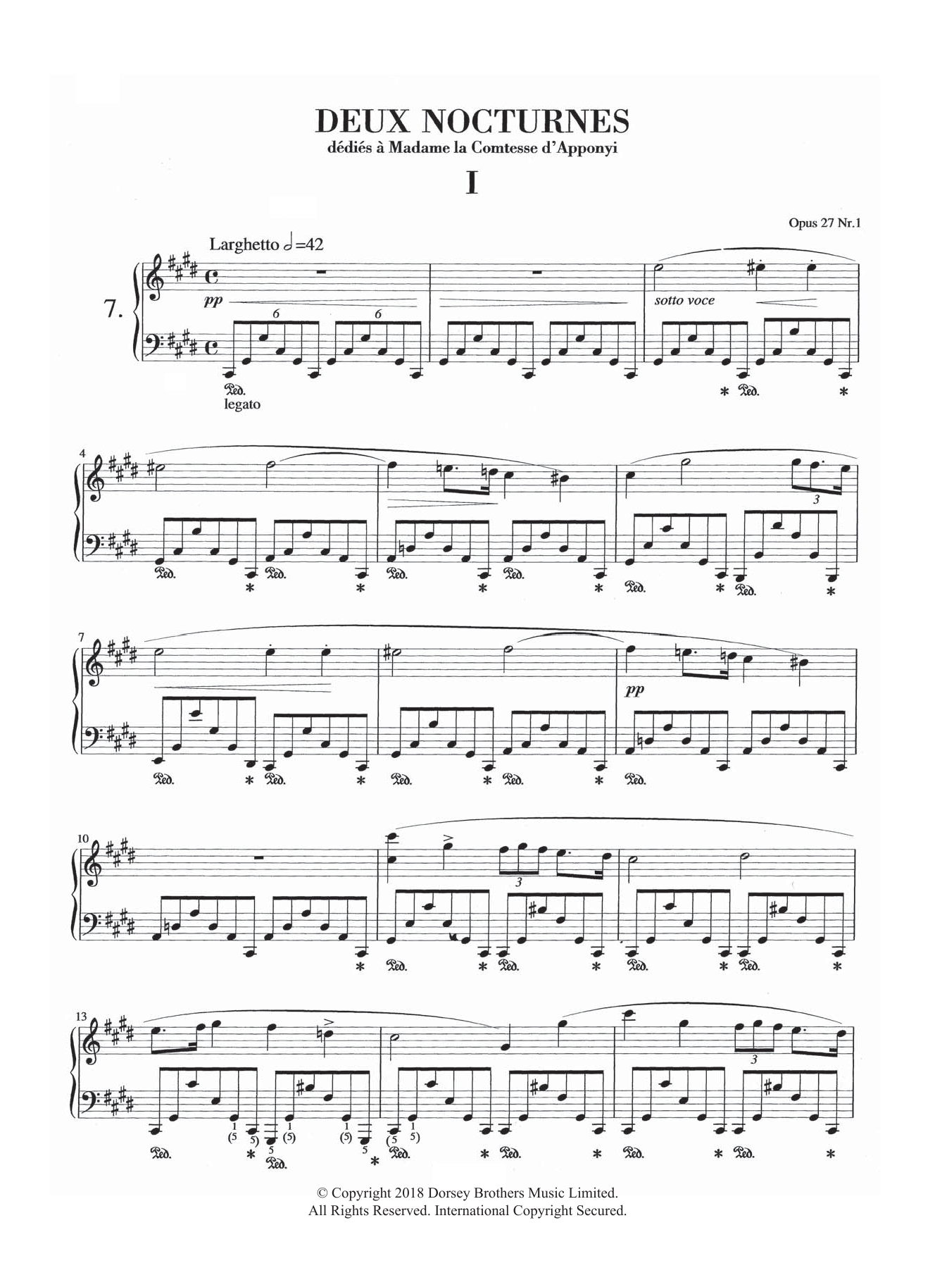 Nocturne in C-Sharp Minor, Op.27, No.1 Sheet Music