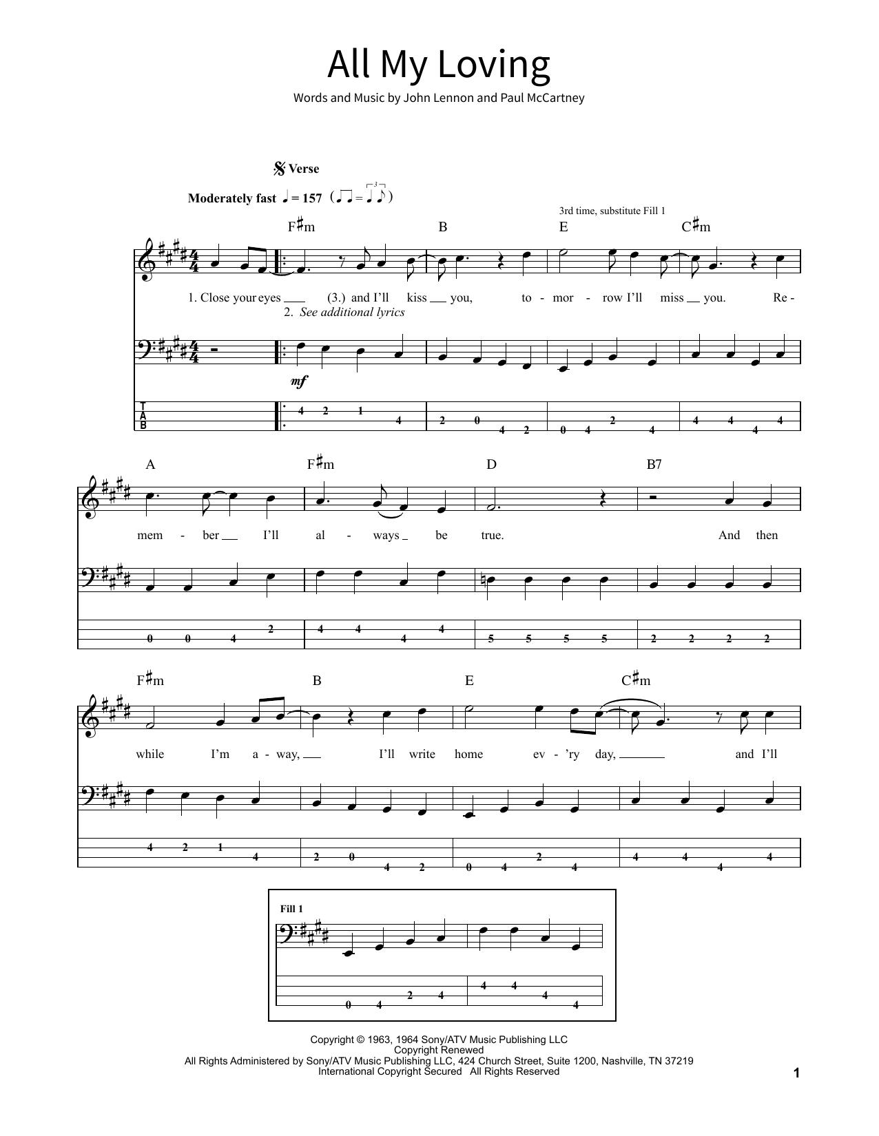 All My Loving (School of Rock – Bass Guitar)