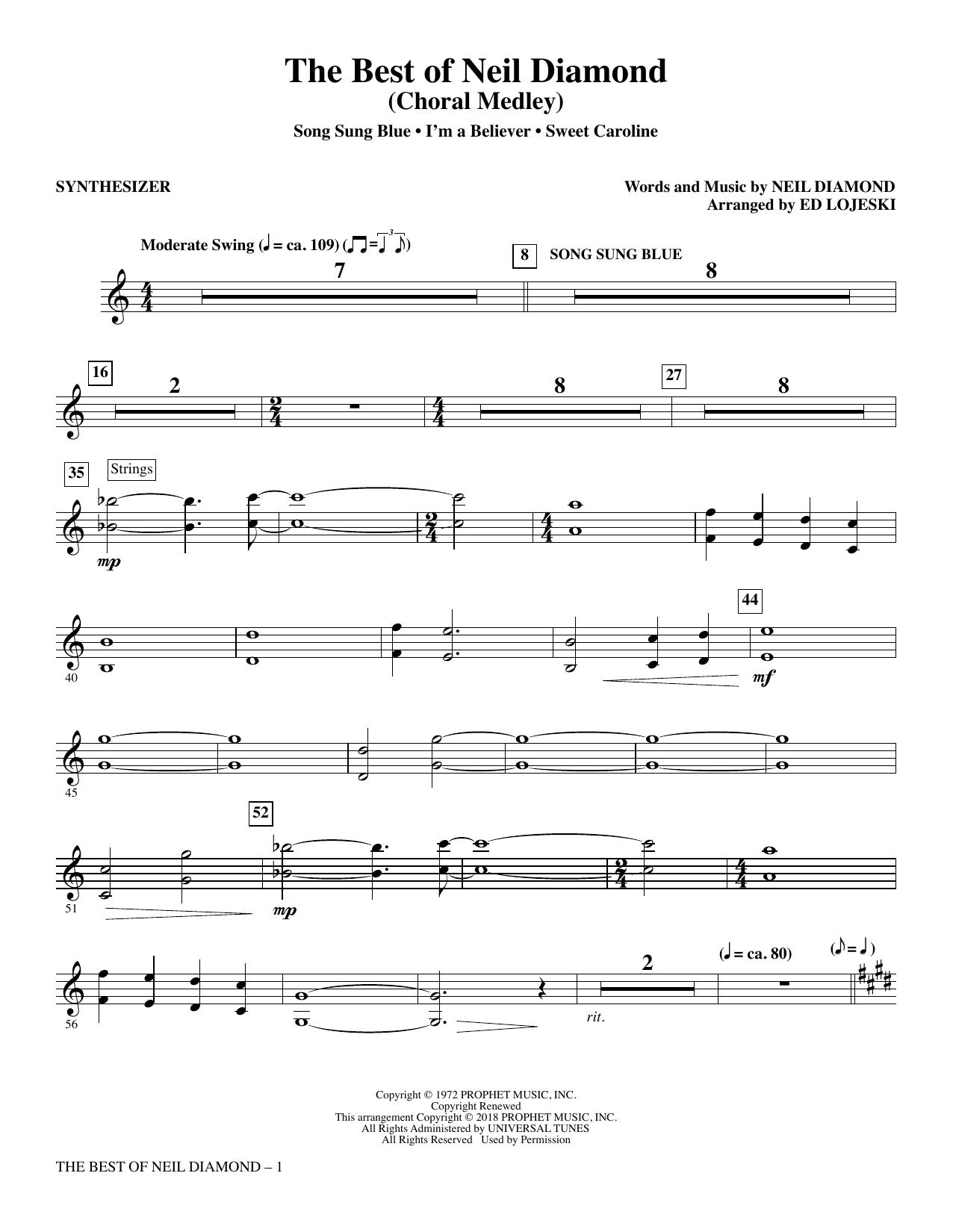 The Best of Neil Diamond - Synthesizer (Choir Instrumental Pak)