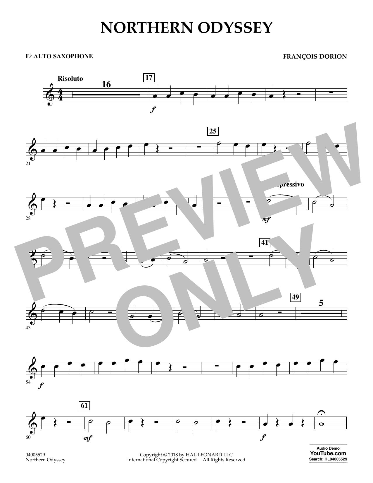 Northern Odyssey - Eb Alto Saxophone (Concert Band)
