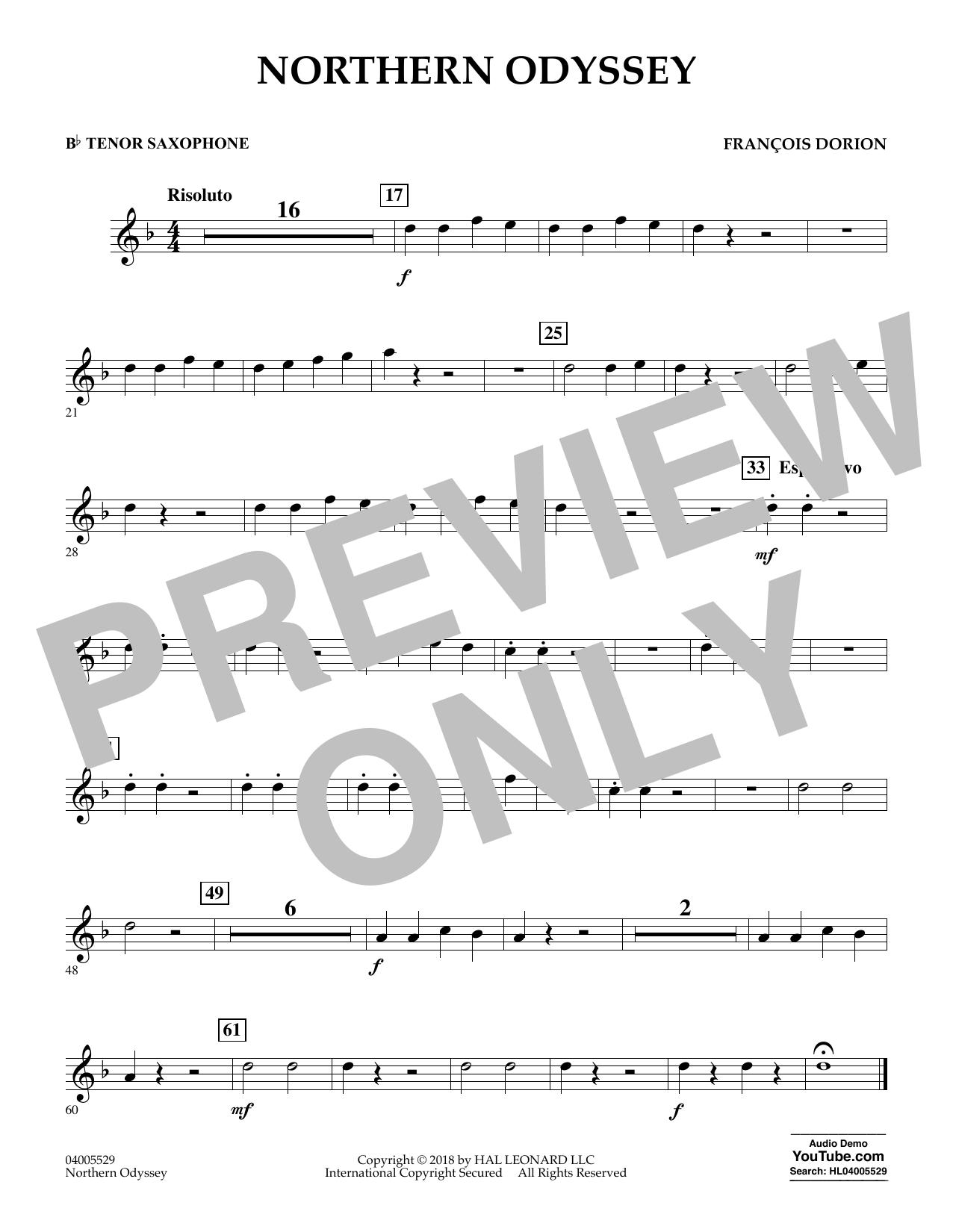 Northern Odyssey - Bb Tenor Saxophone (Concert Band)