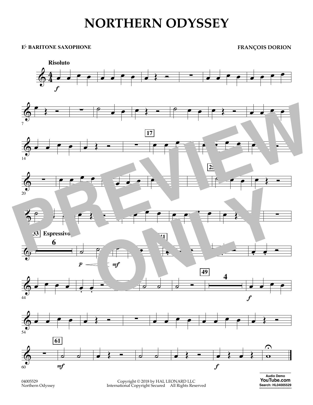 Northern Odyssey - Eb Baritone Saxophone (Concert Band)