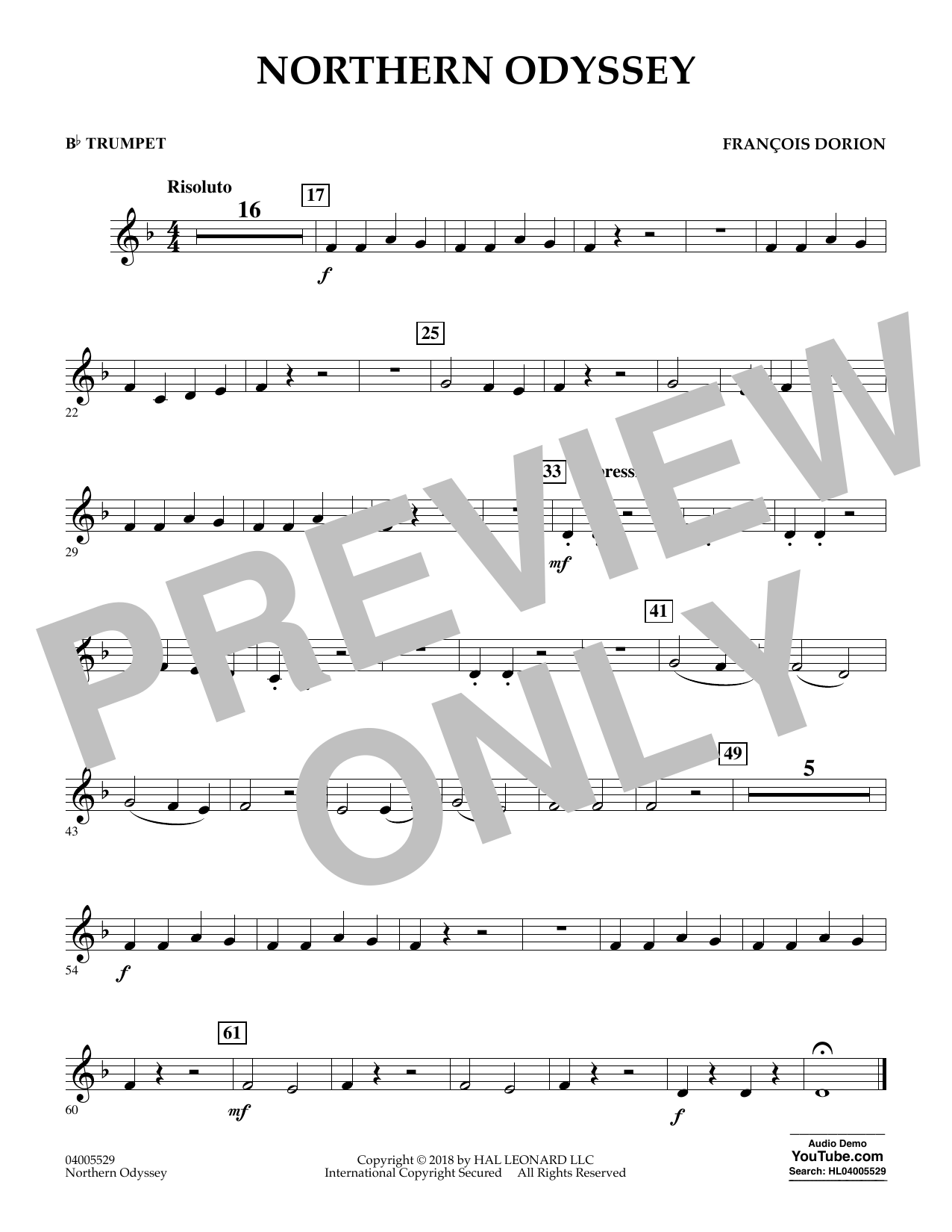 Northern Odyssey - Bb Trumpet (Concert Band)