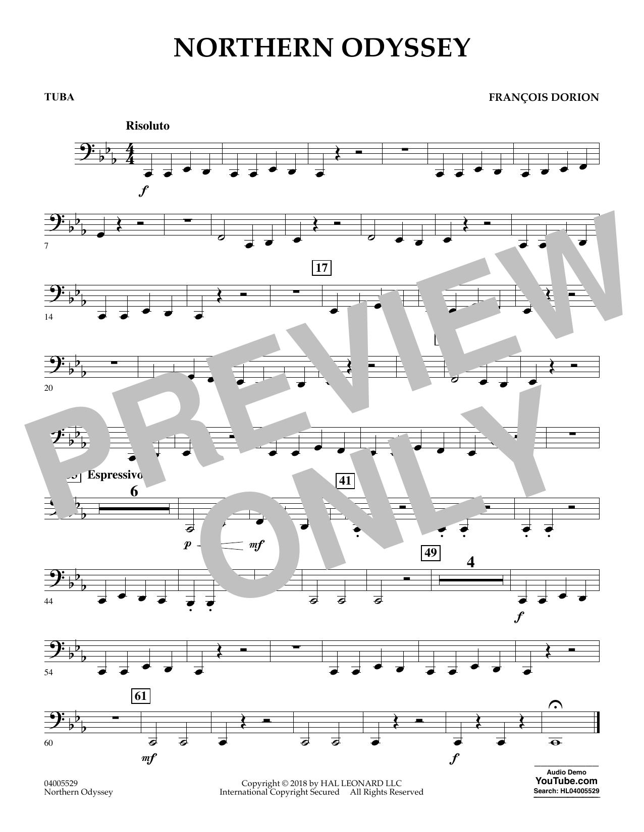 Northern Odyssey - Tuba (Concert Band)