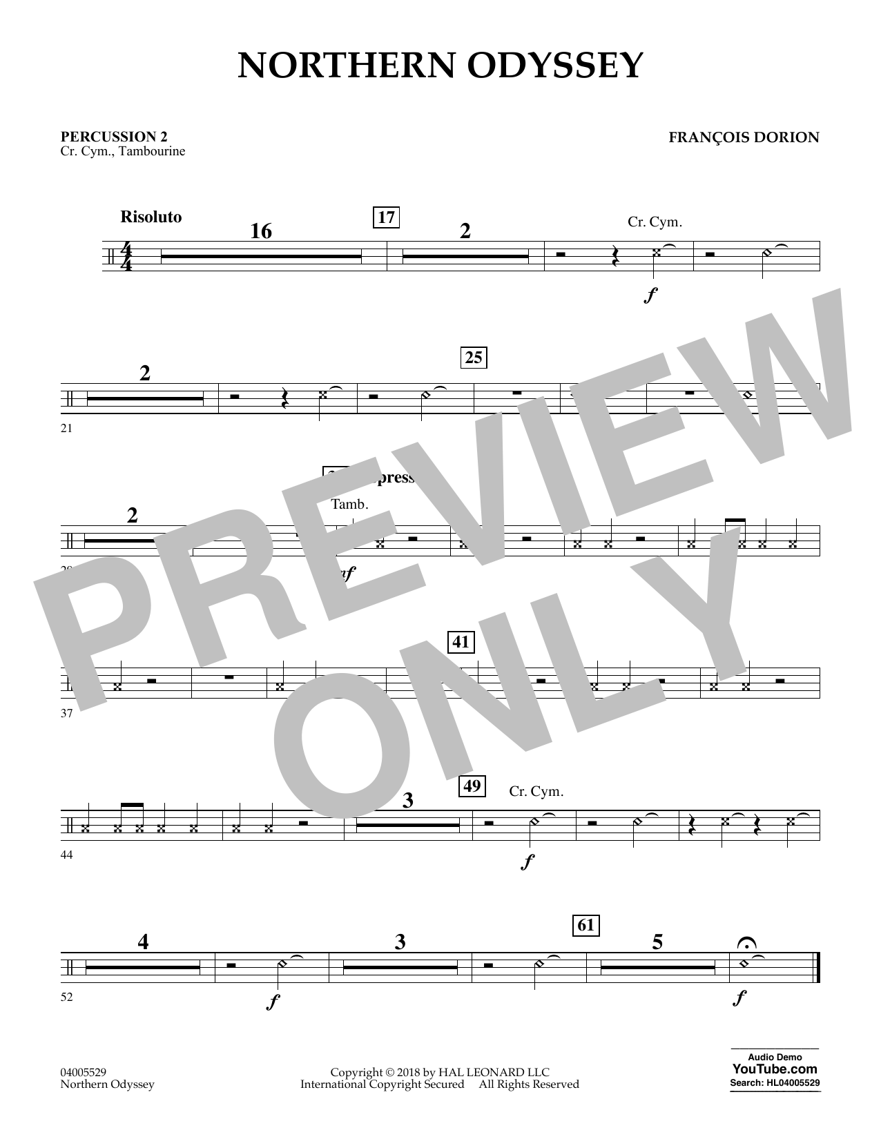 Northern Odyssey - Percussion 2 (Concert Band)