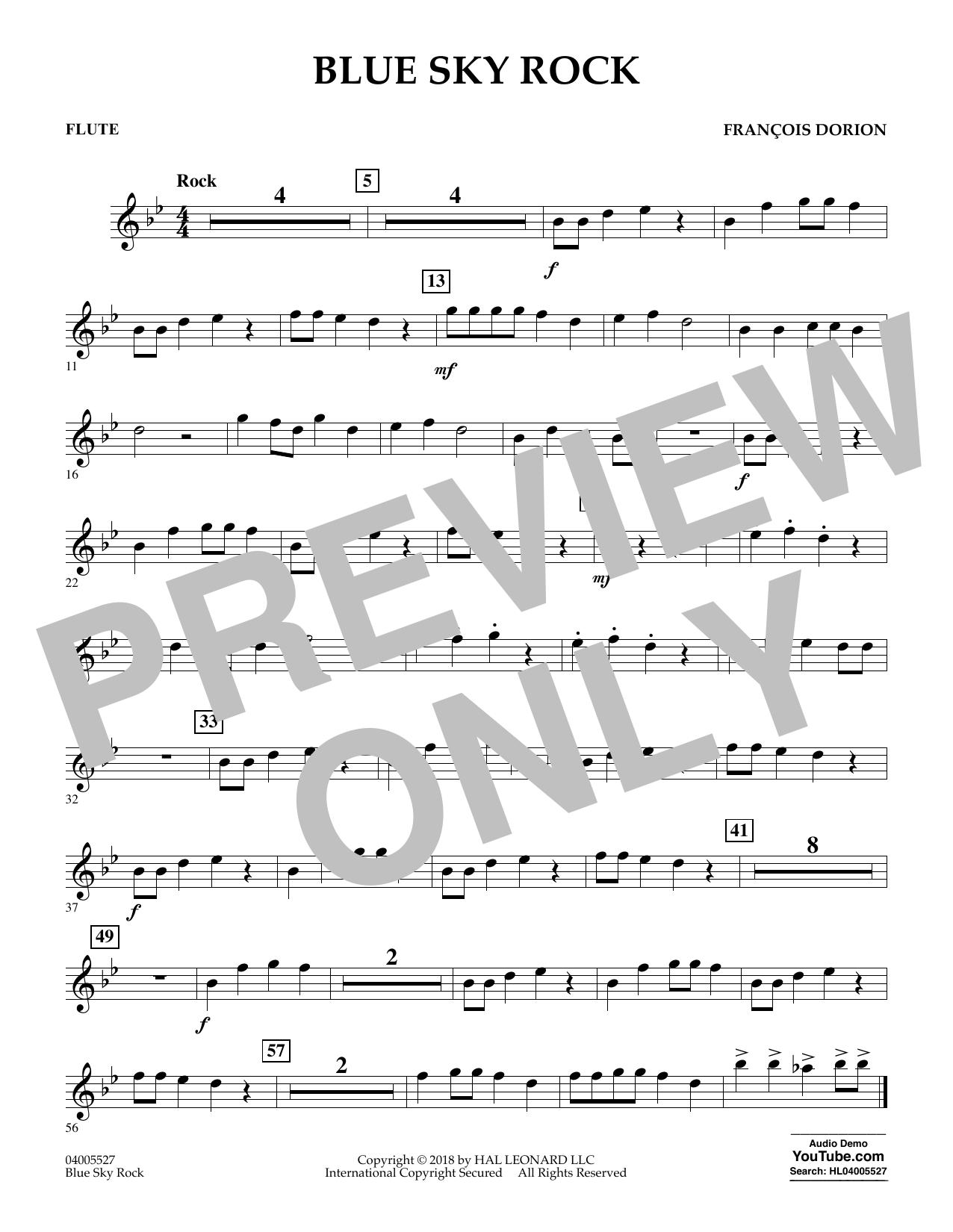 Blue Sky Rock - Flute (Concert Band)
