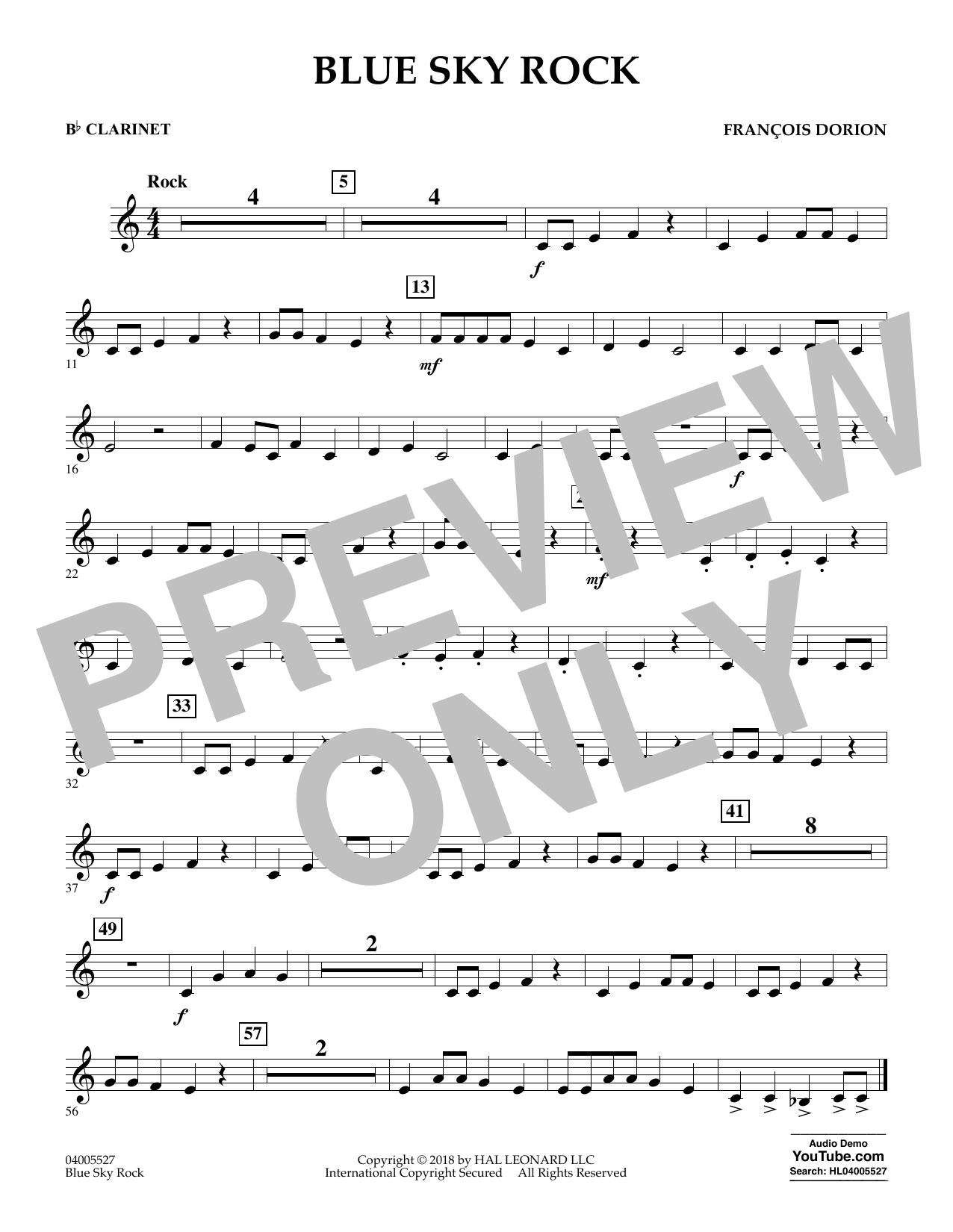 Blue Sky Rock - Bb Clarinet (Concert Band)