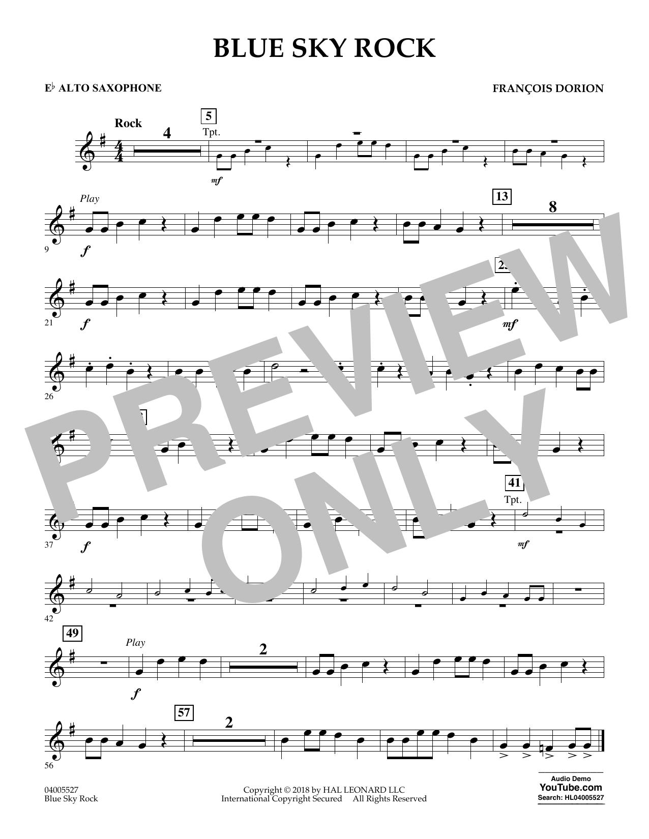 Blue Sky Rock - Eb Alto Saxophone (Concert Band)