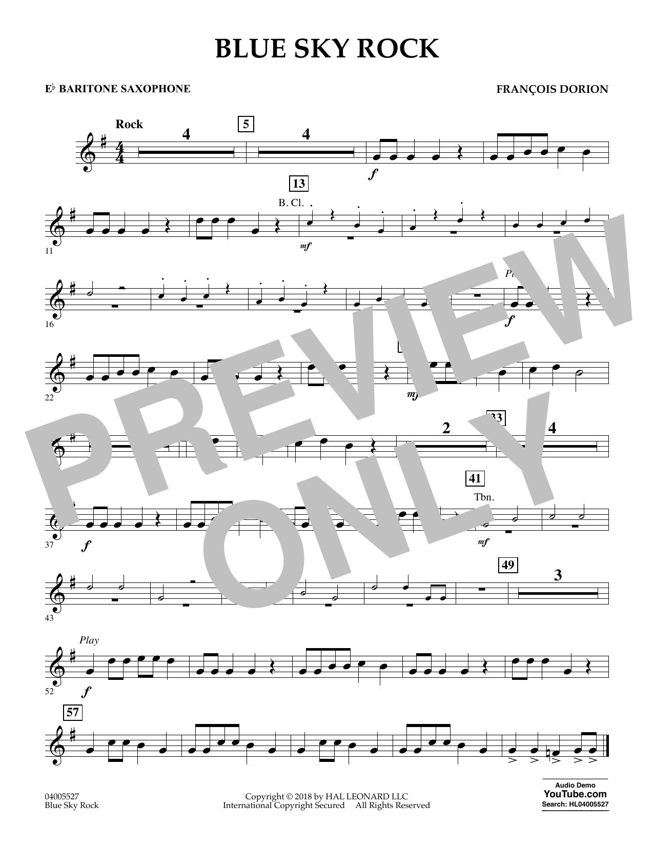 Blue Sky Rock - Eb Baritone Saxophone (Concert Band)