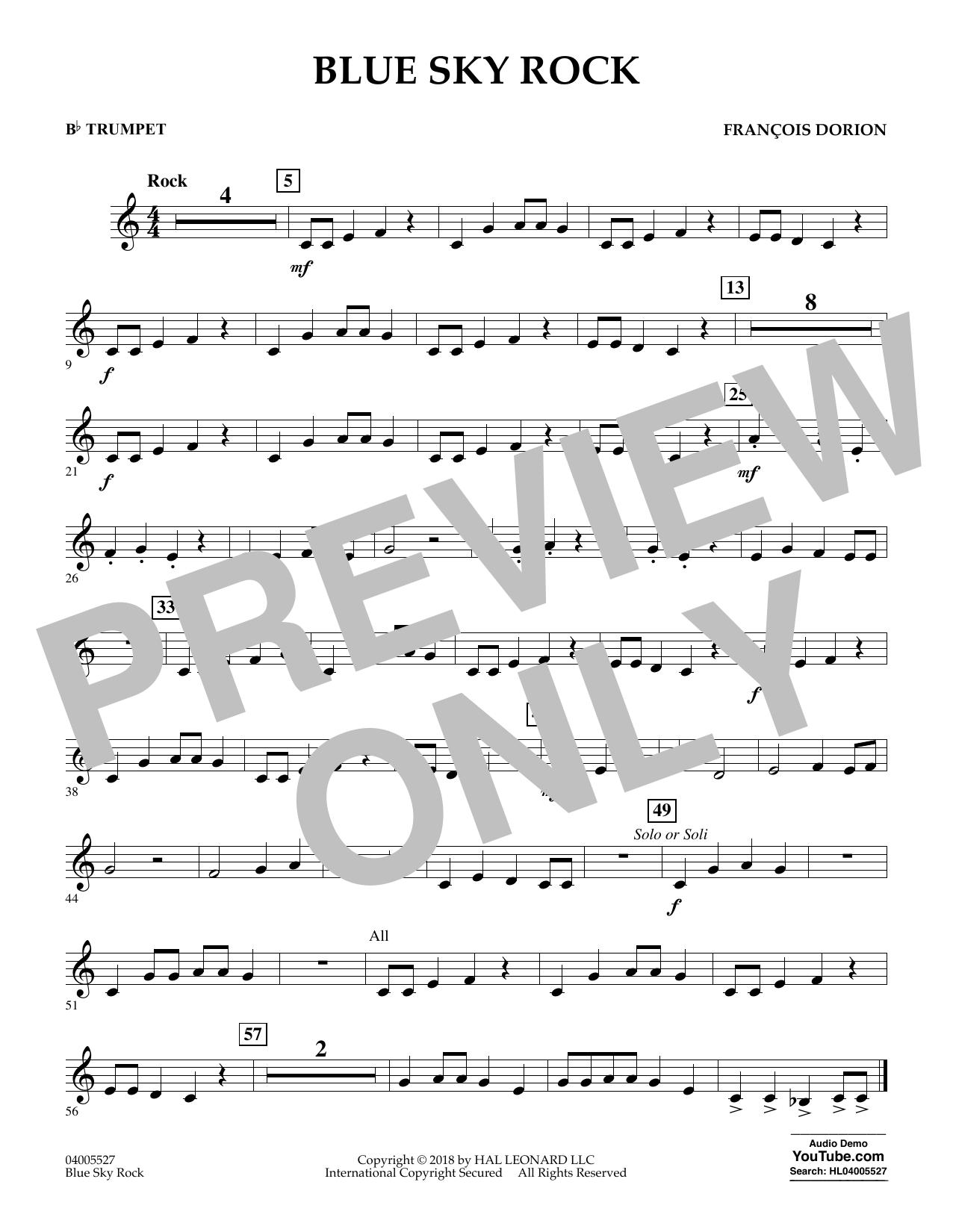 Blue Sky Rock - Bb Trumpet (Concert Band)