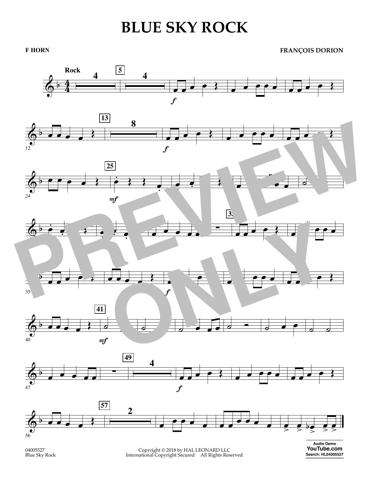 Blue Sky Rock - F Horn (Concert Band)