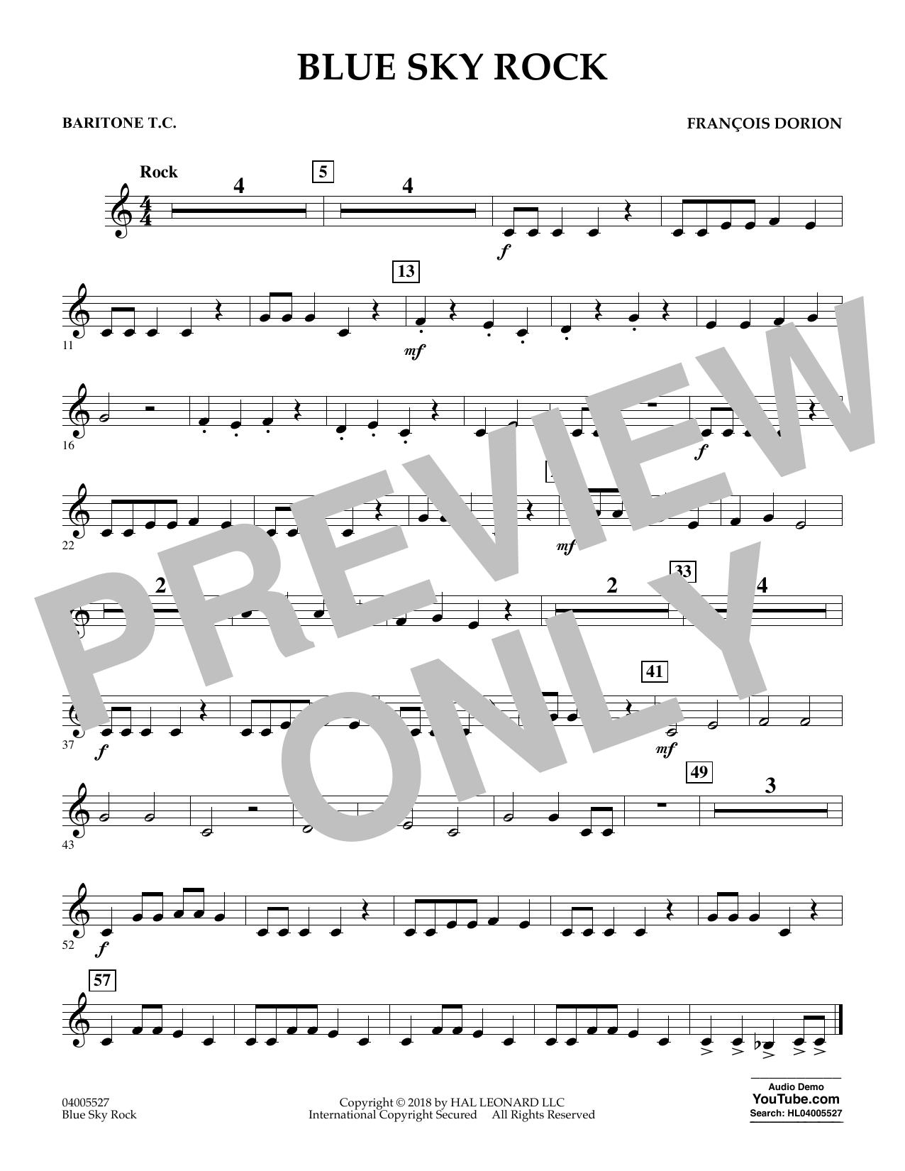 Blue Sky Rock - Baritone T.C. (Concert Band)