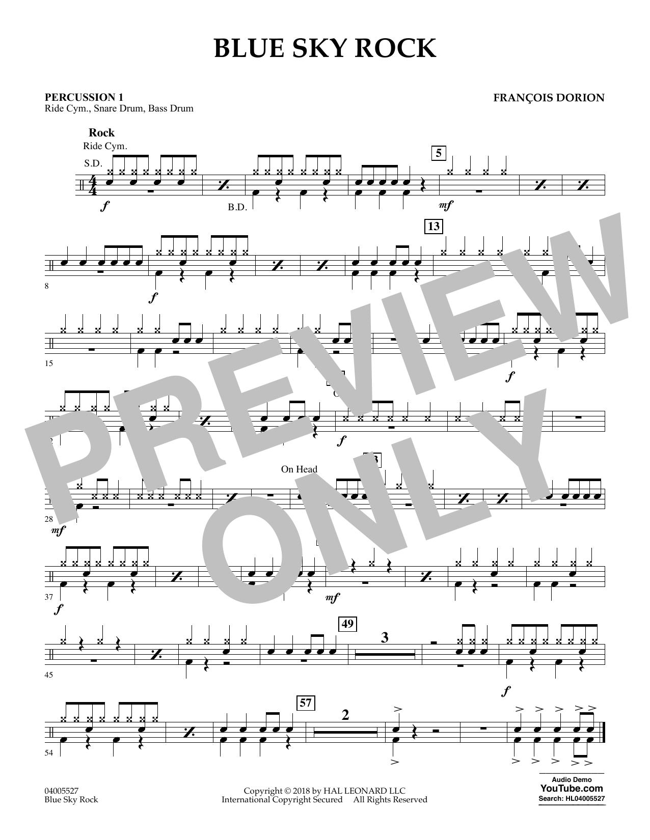 Blue Sky Rock - Percussion 1 (Concert Band)
