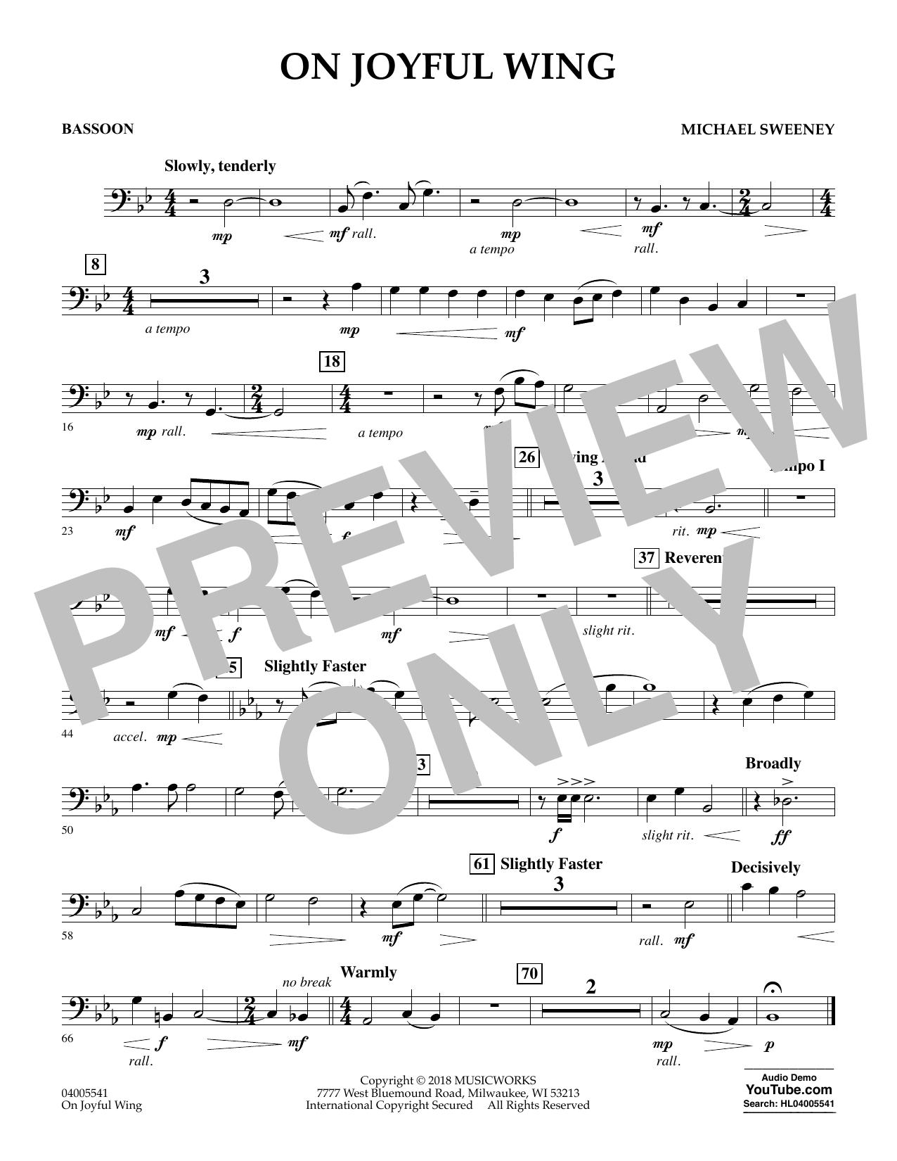 On Joyful Wing - Bassoon (Concert Band)