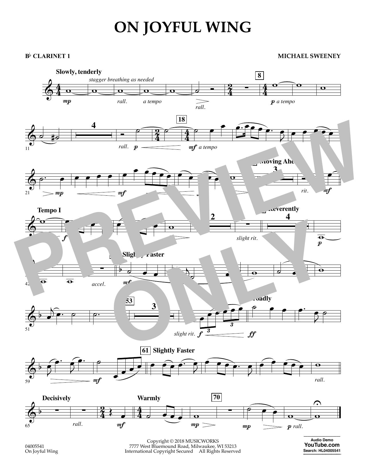 On Joyful Wing - Bb Clarinet 1 (Concert Band)