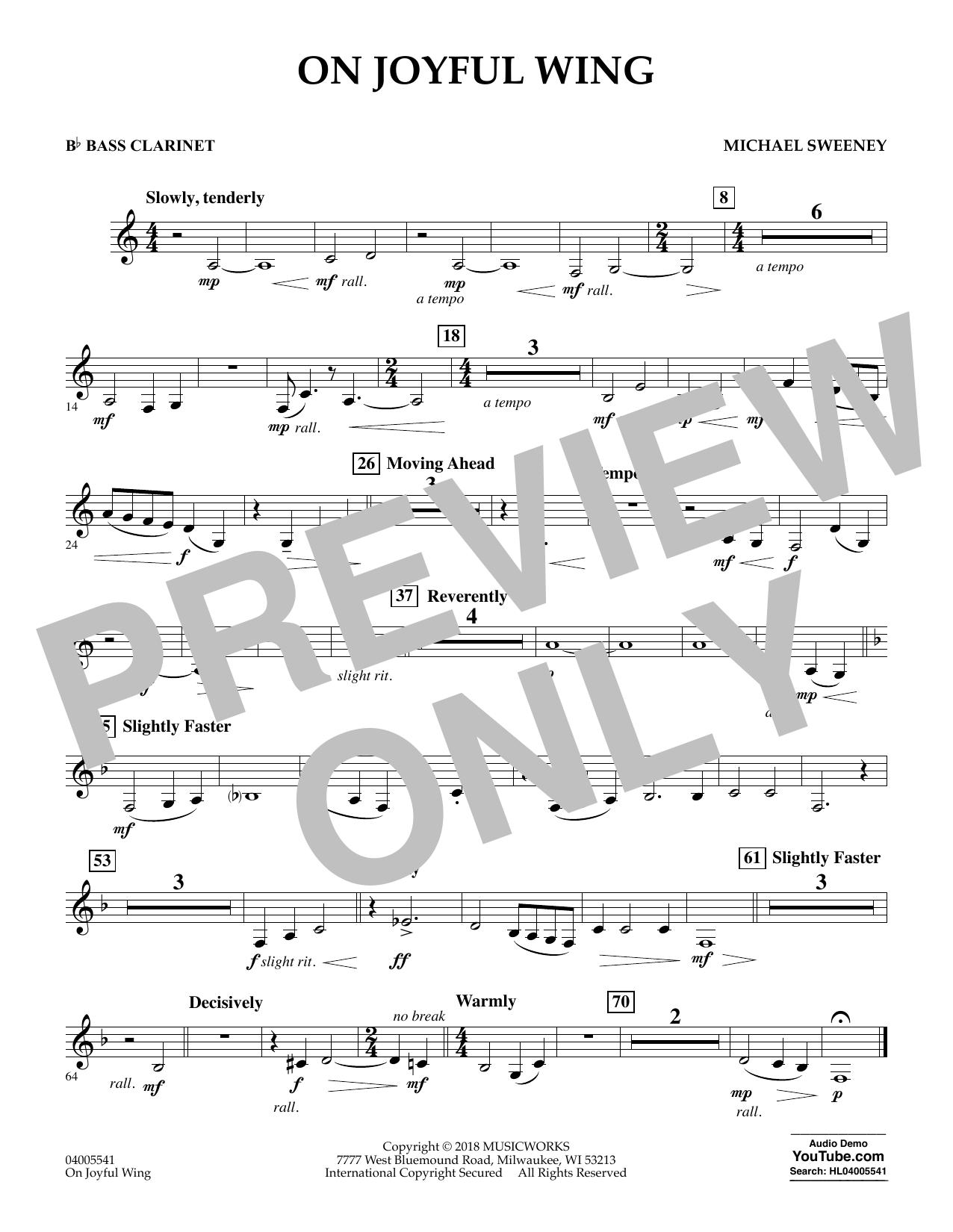 On Joyful Wing - Bb Bass Clarinet (Concert Band)