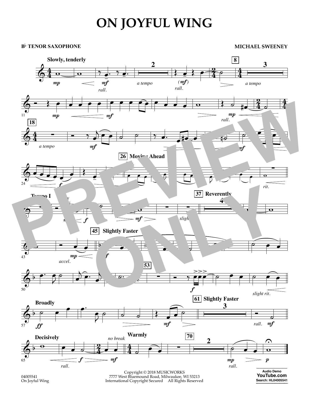 On Joyful Wing - Bb Tenor Saxophone (Concert Band)