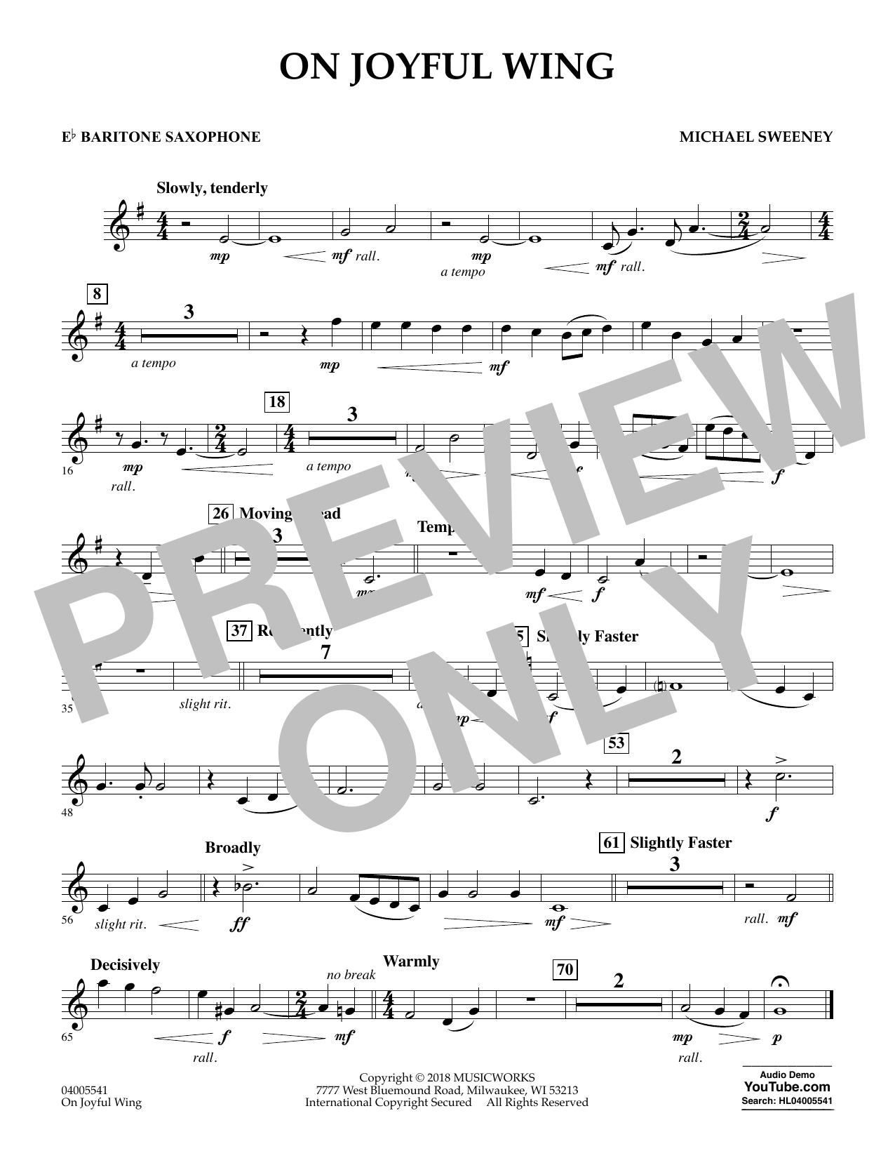 On Joyful Wing - Eb Baritone Saxophone (Concert Band)