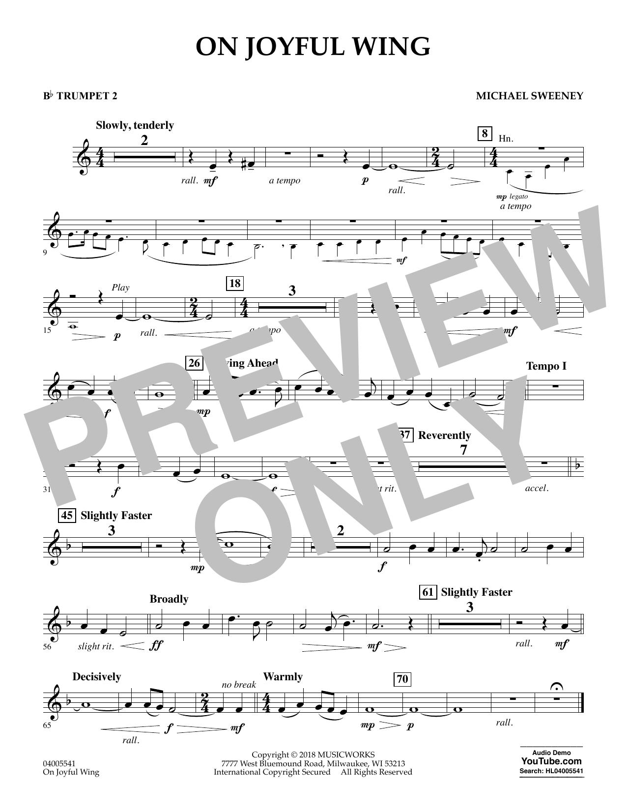 On Joyful Wing - Bb Trumpet 2 (Concert Band)