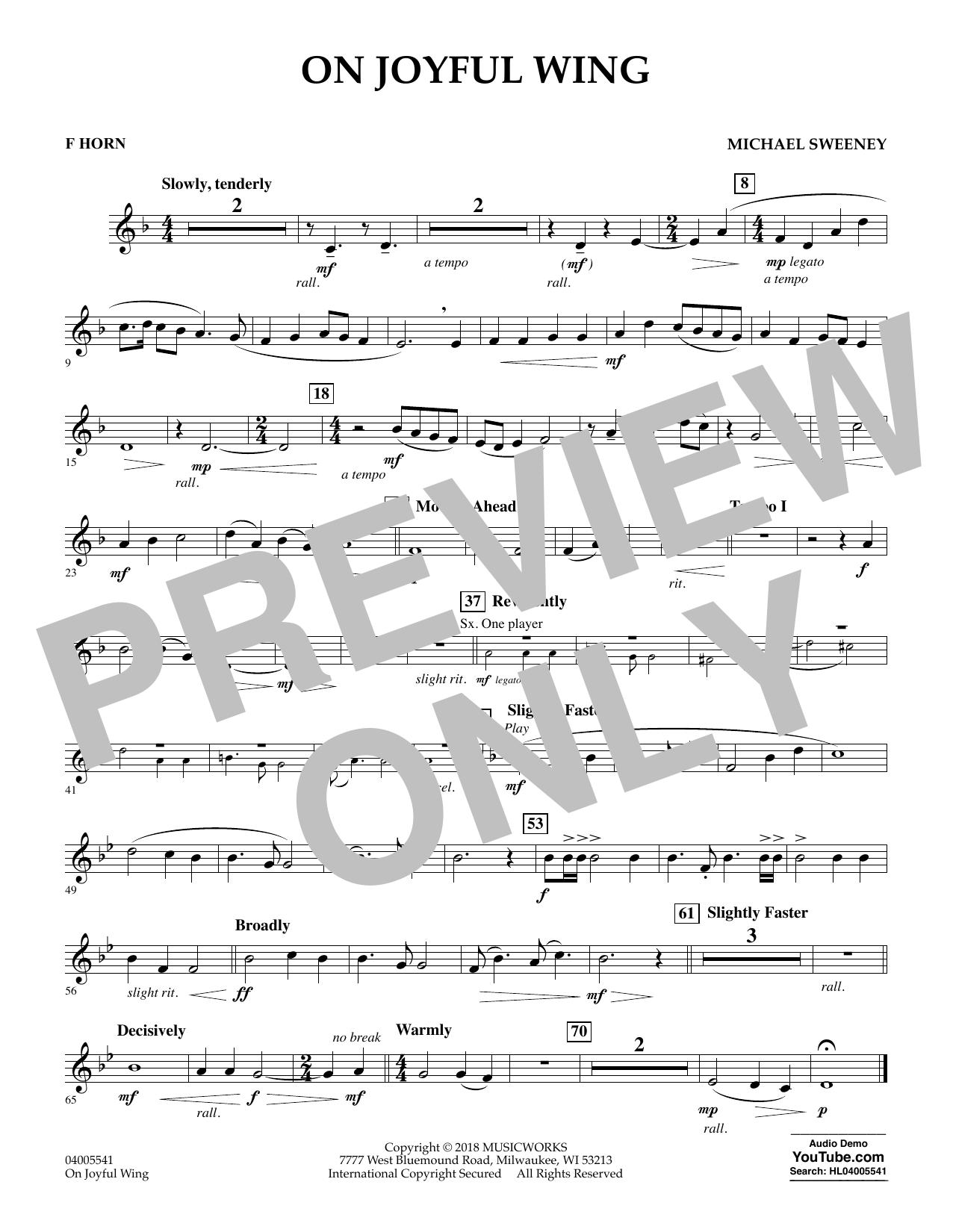 On Joyful Wing - F Horn (Concert Band)