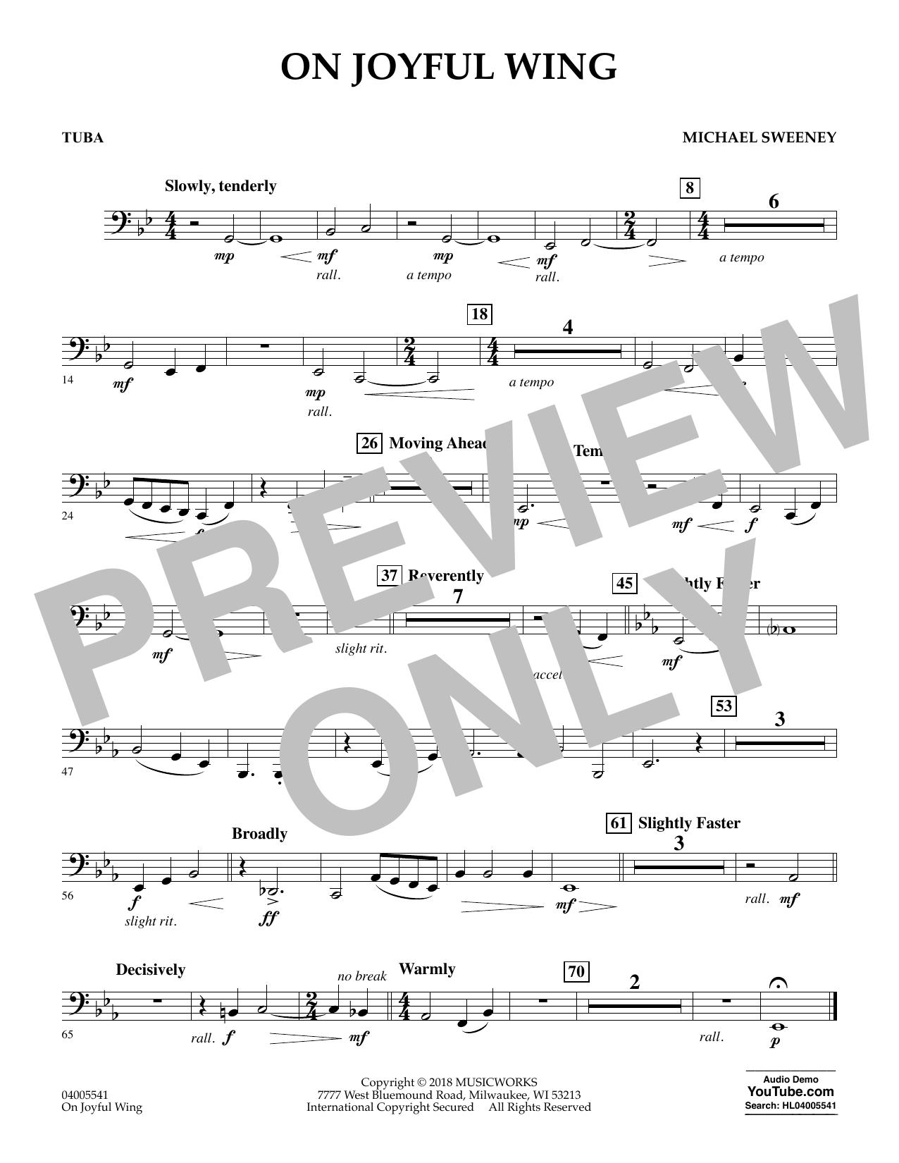 On Joyful Wing - Tuba (Concert Band)
