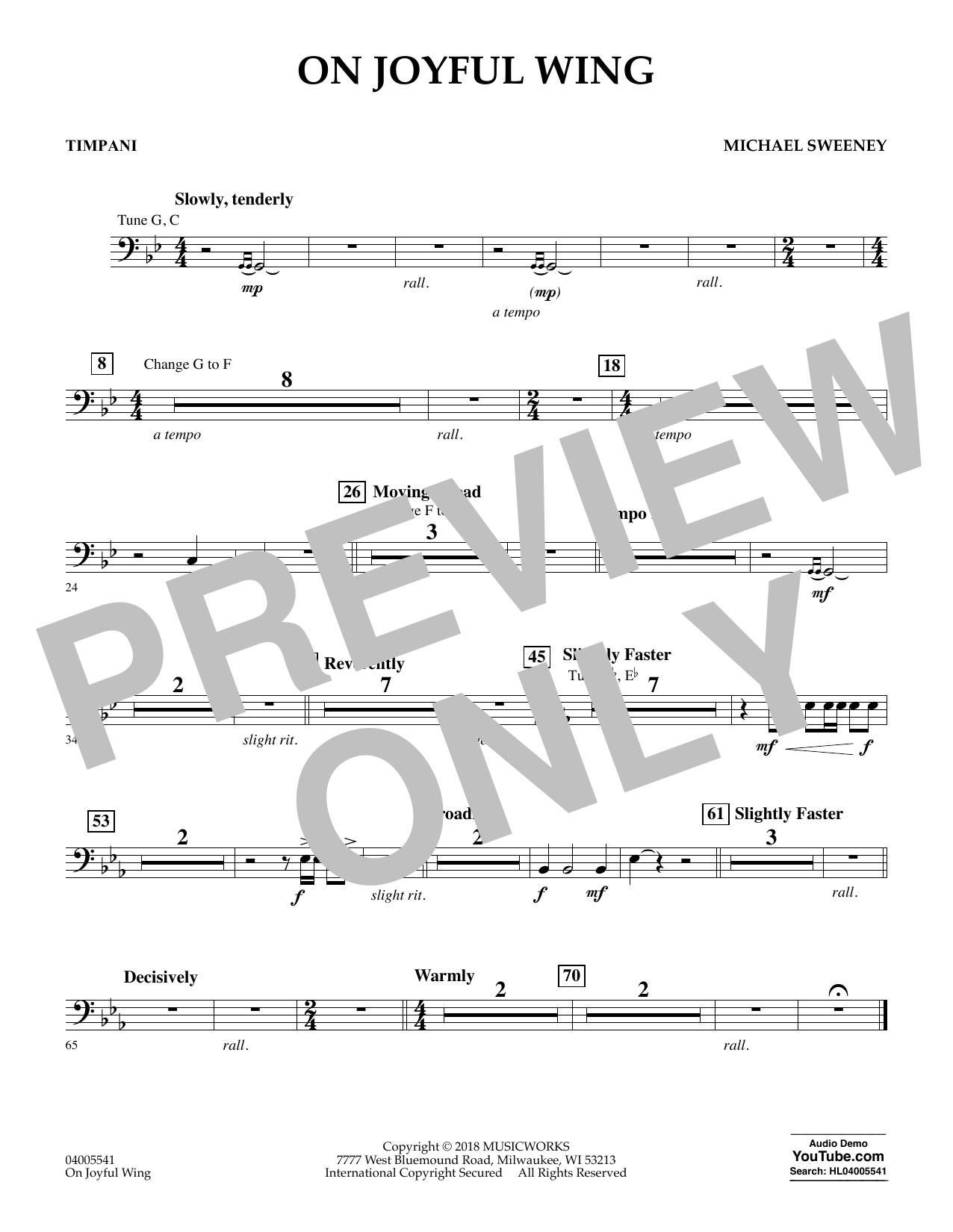 On Joyful Wing - Timpani (Concert Band)