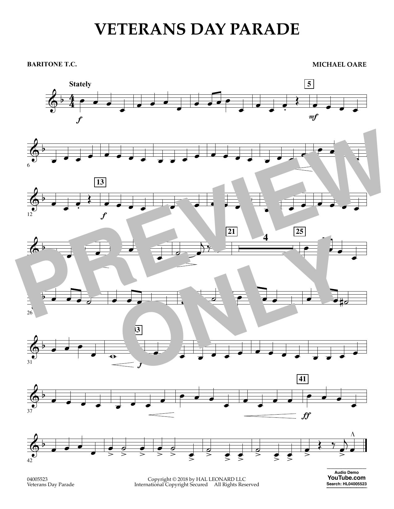 Veterans Day Parade - Baritone T.C. (Concert Band)