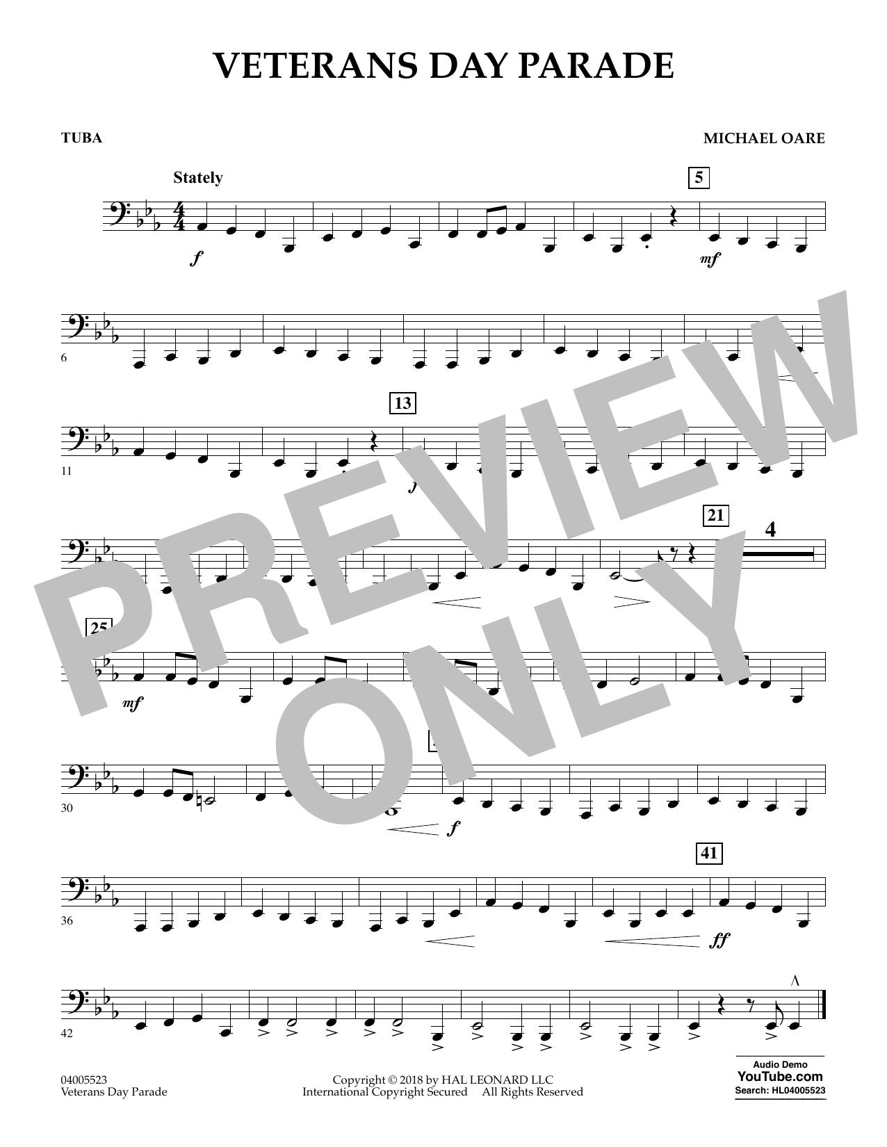 Veterans Day Parade - Tuba (Concert Band)