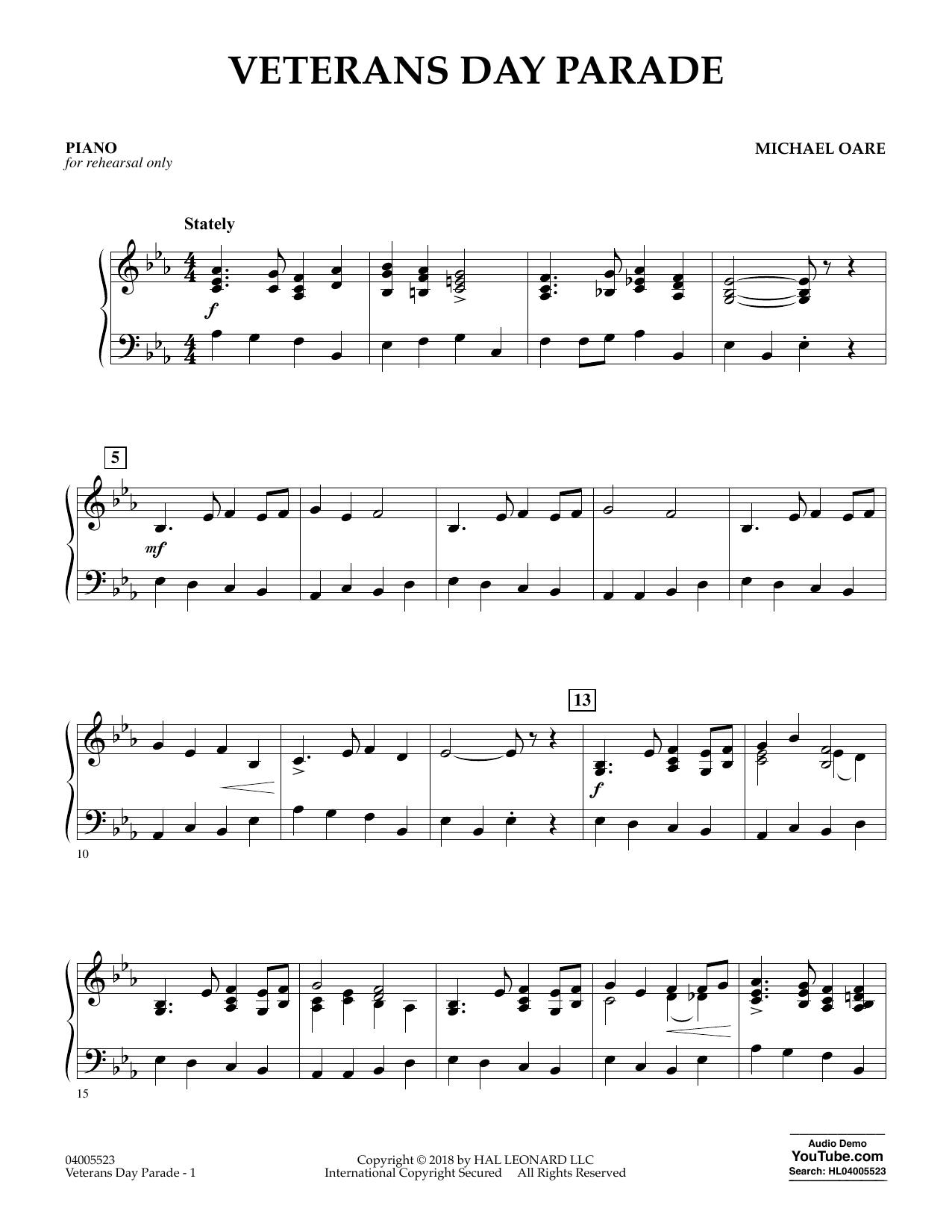 Veterans Day Parade - Piano (Concert Band)