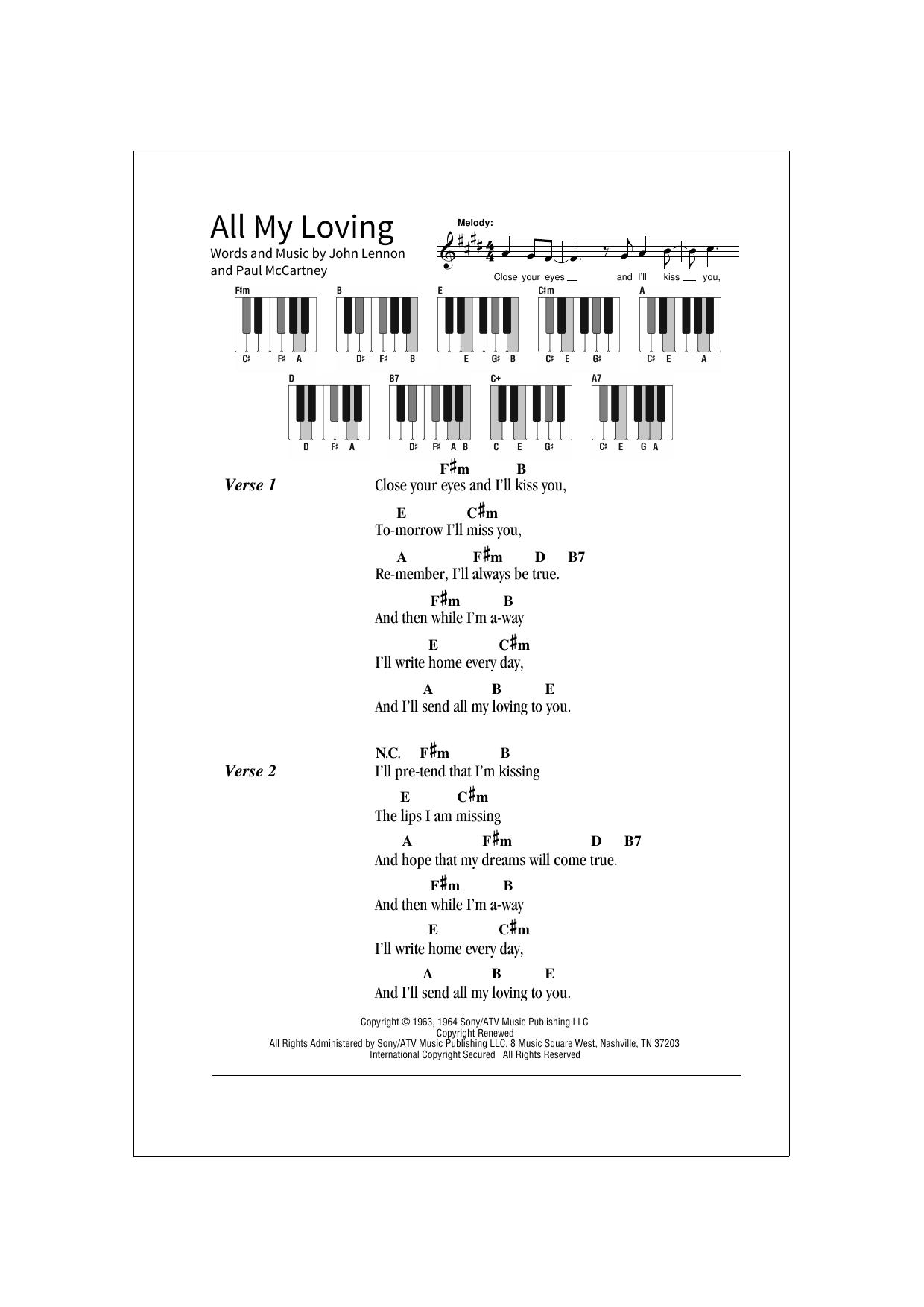 All My Loving (School of Rock – Keys)