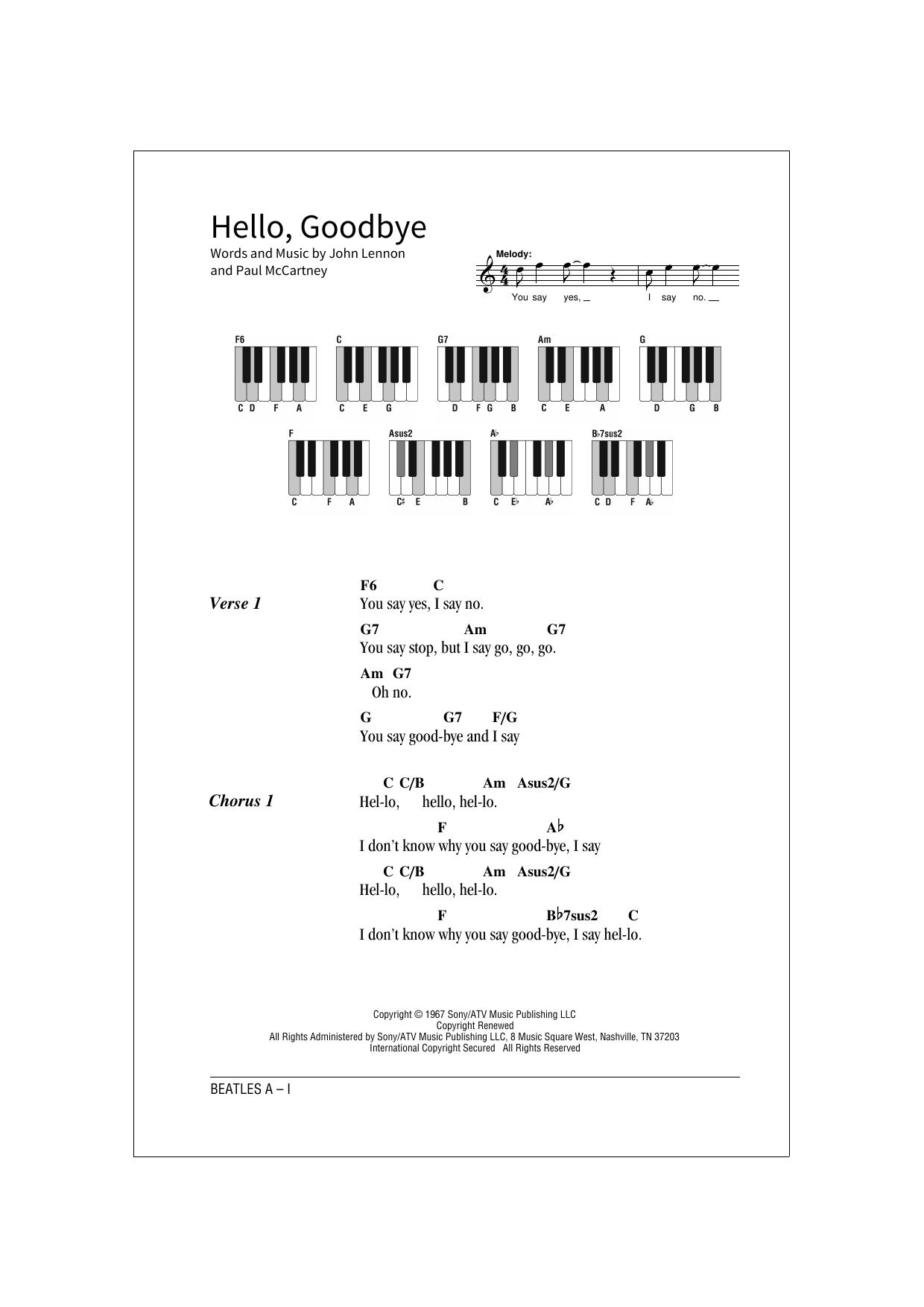 Hello, Goodbye (School of Rock – Keys)