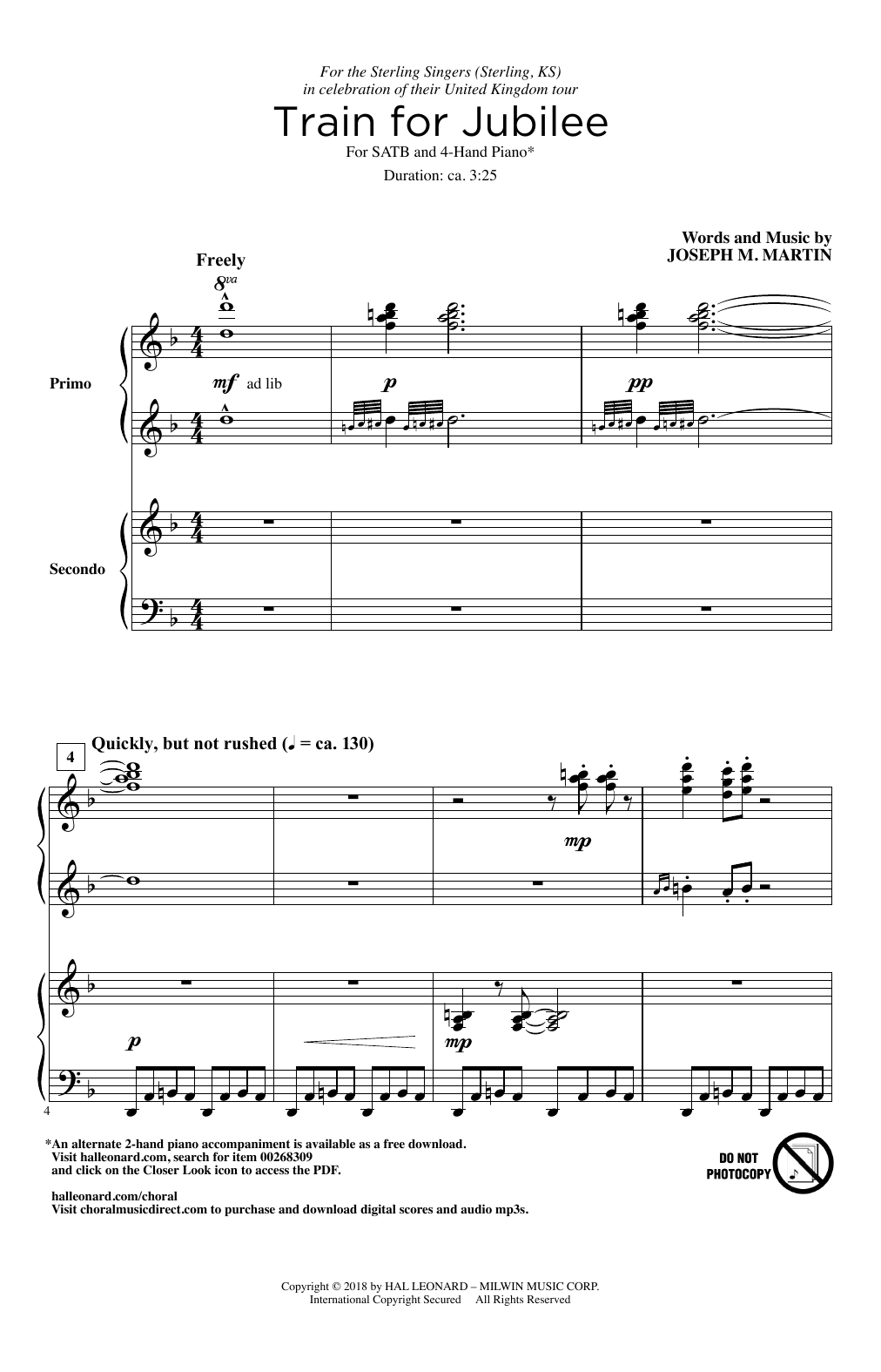 Train For Jubilee (Choir)