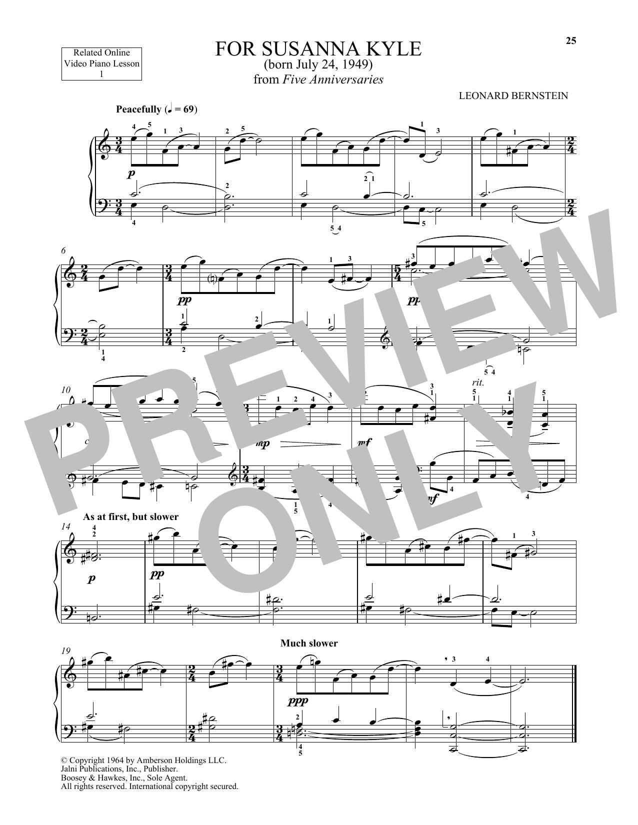 For Susanna Kyle (Piano Solo)